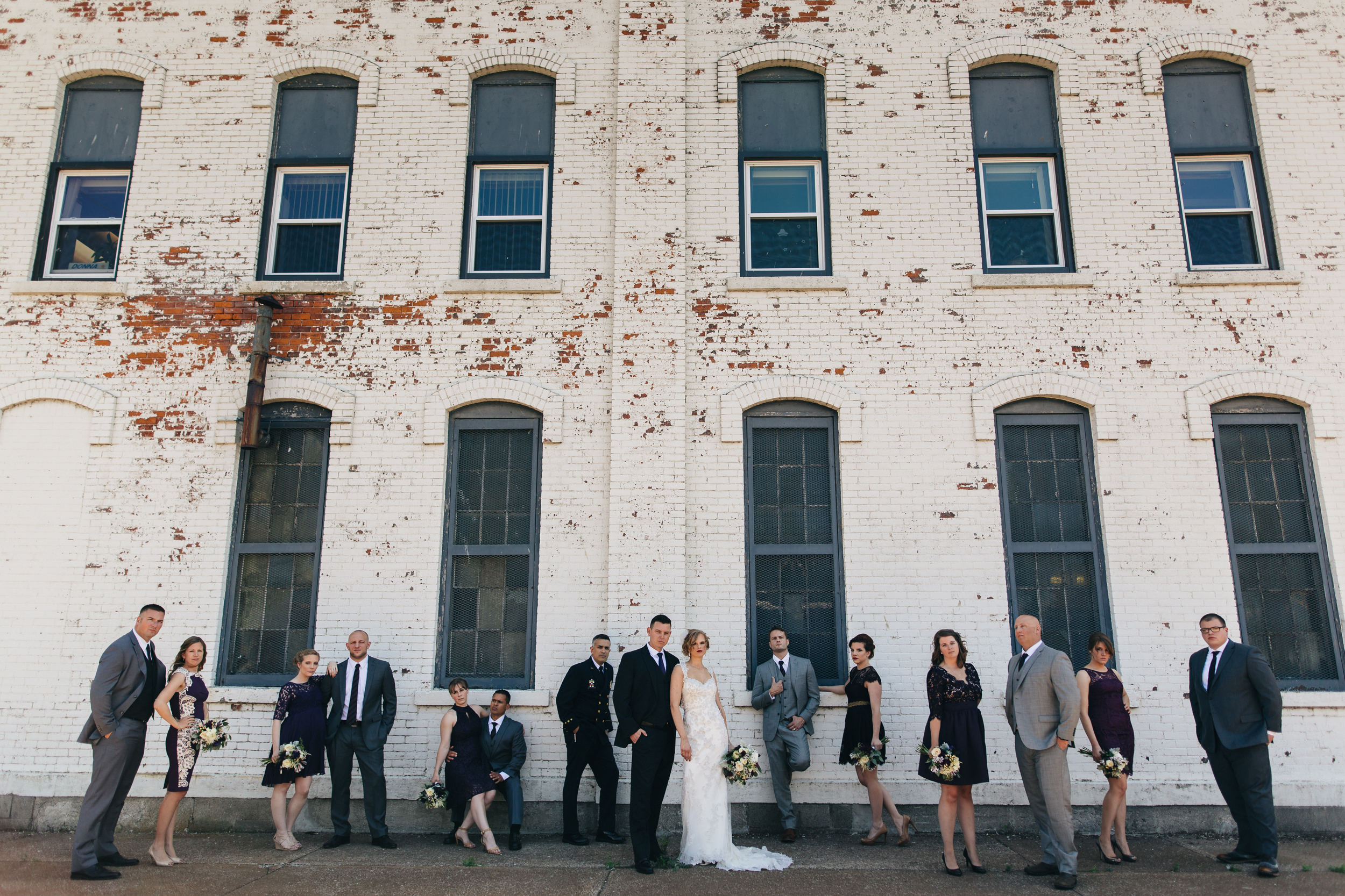 Bridal portrait photography in downtown setting in Sandusky, Ohio.