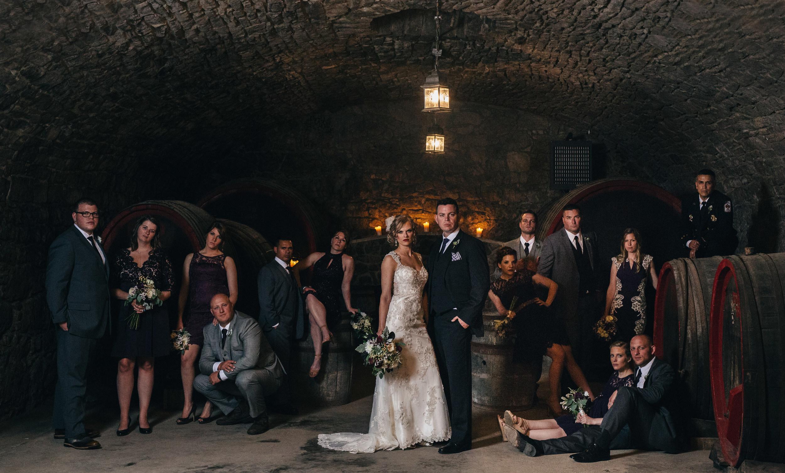 Annie Leibovitz style bridal party wedding photography.