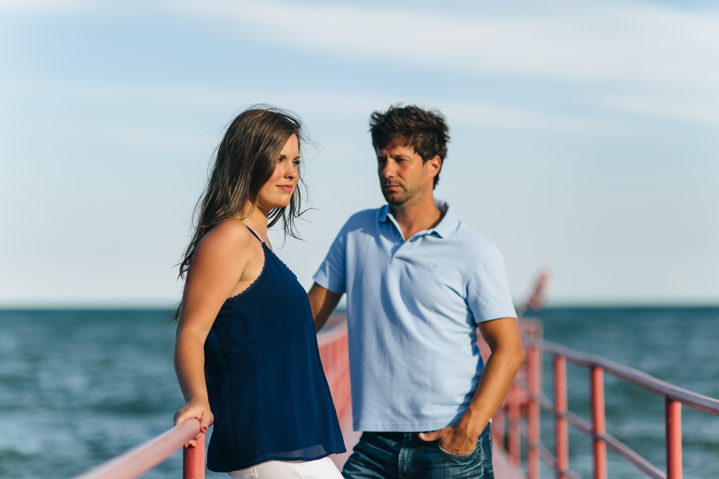 Lake Erie shores engagement session.