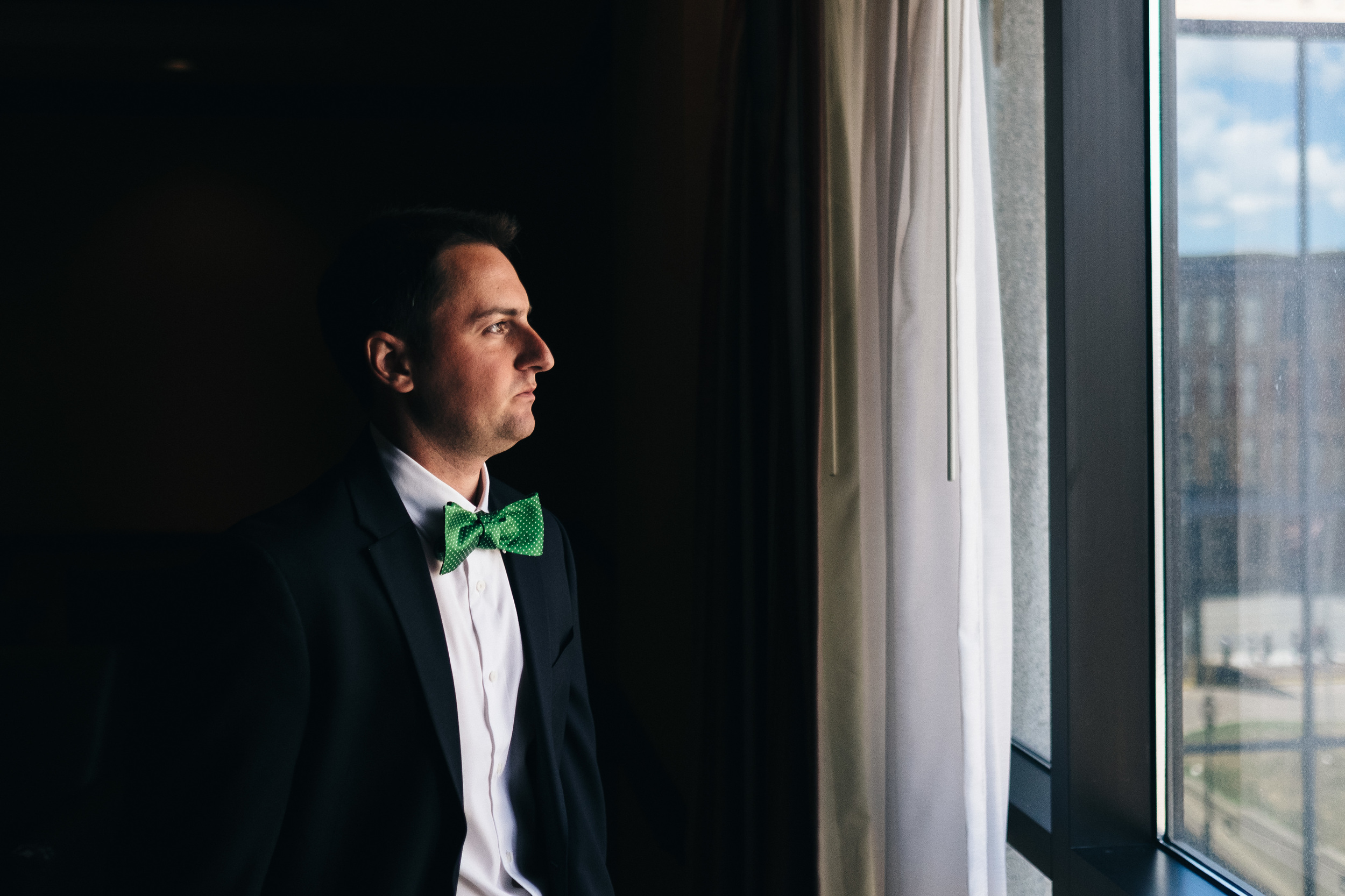 Grooms portrait before wedding day