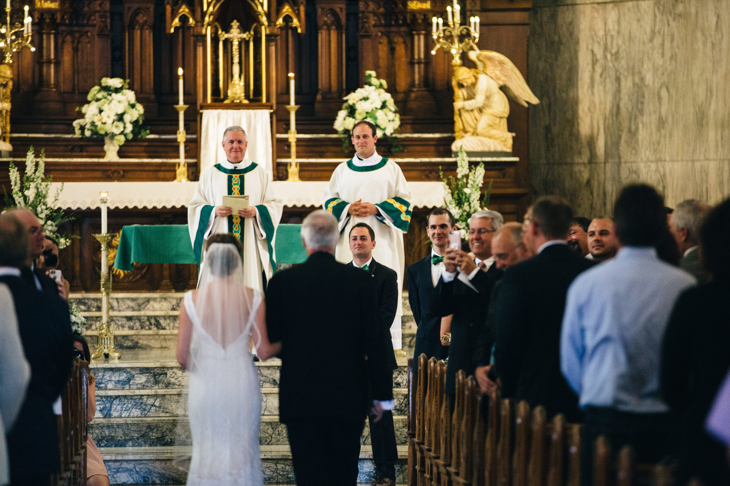 Wedding ceremony at Historic St.Patricks Catholic Church.