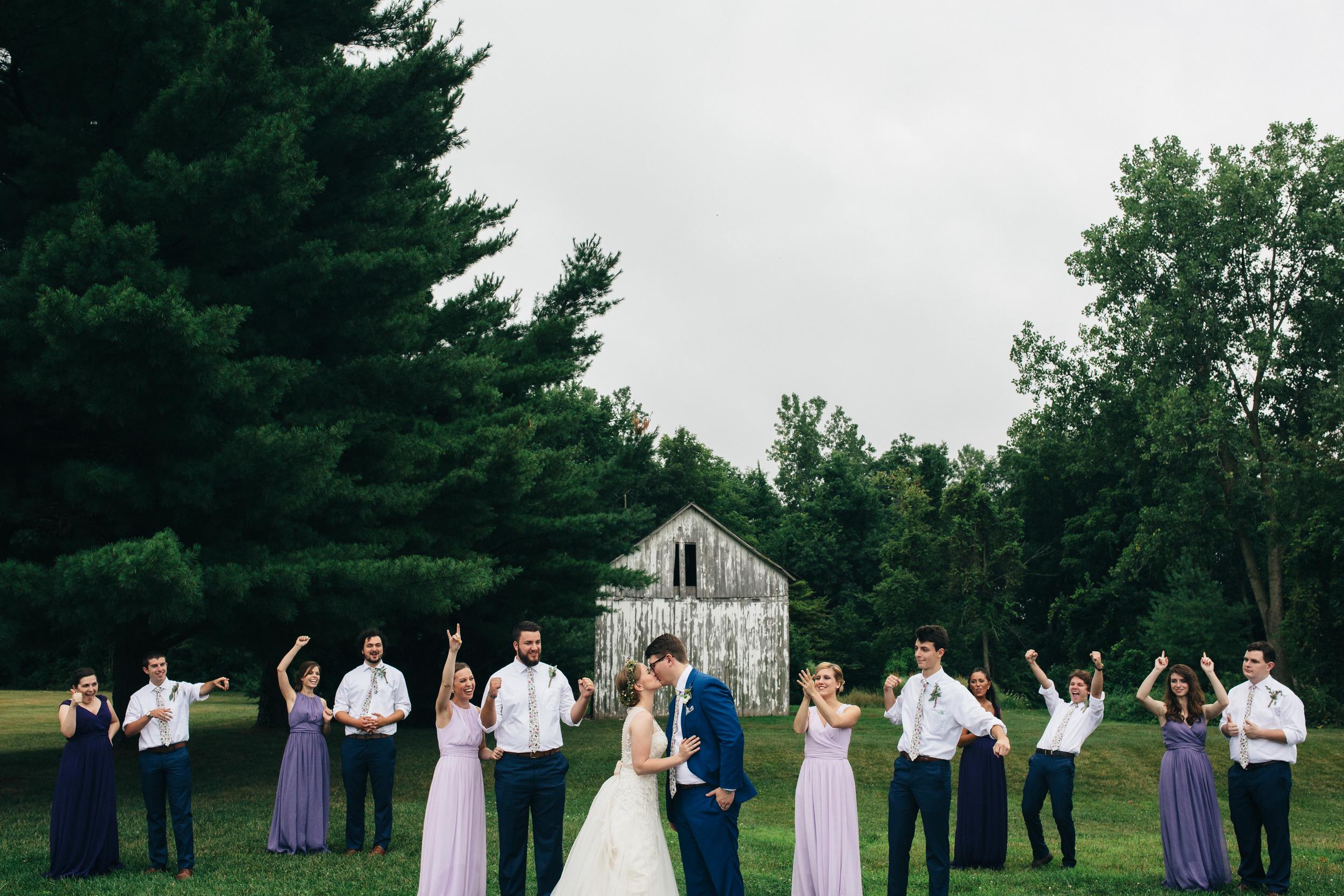Bridal party in northwest Ohio.
