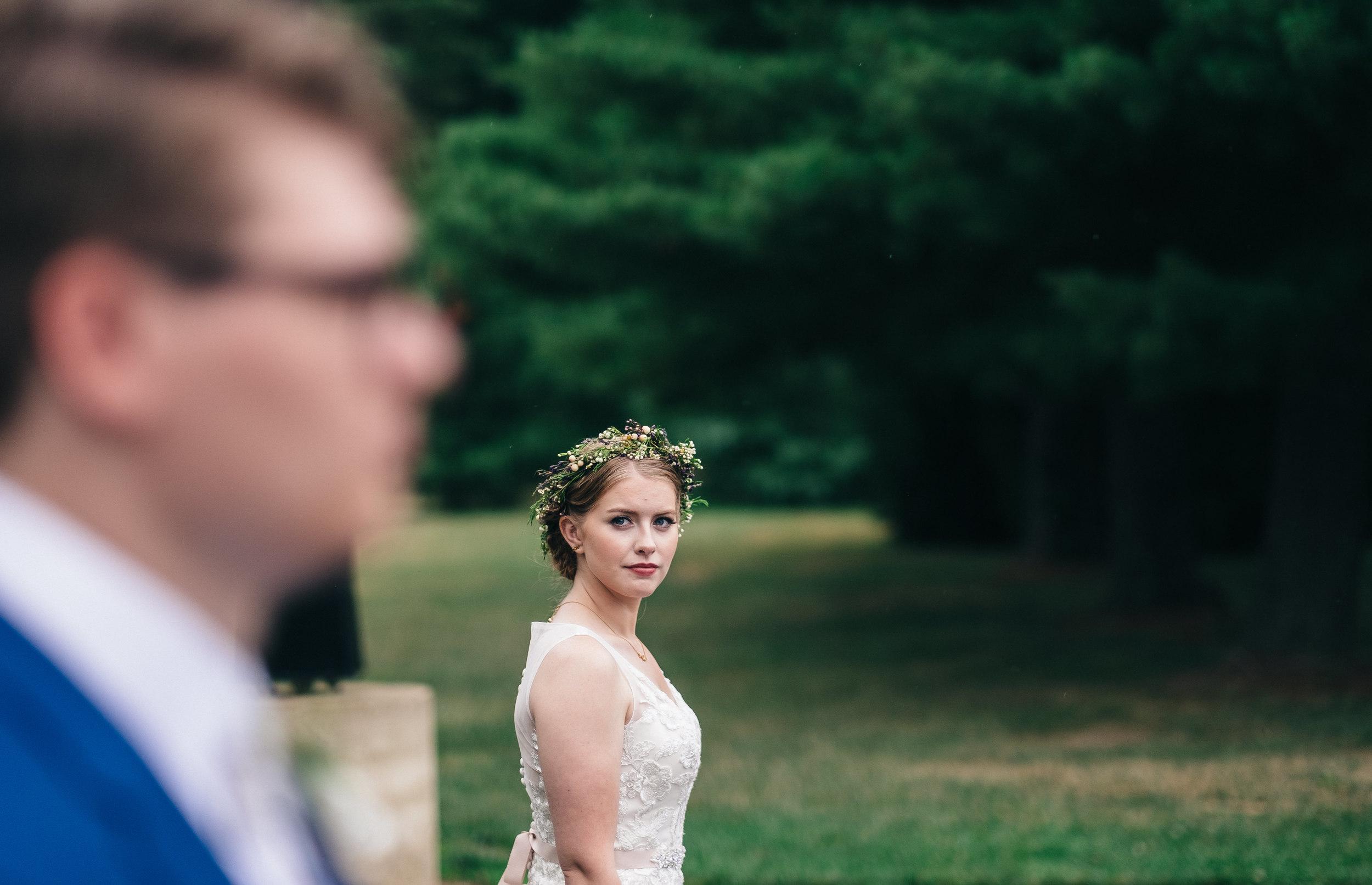 Bridal portrait in Toledo Ohio