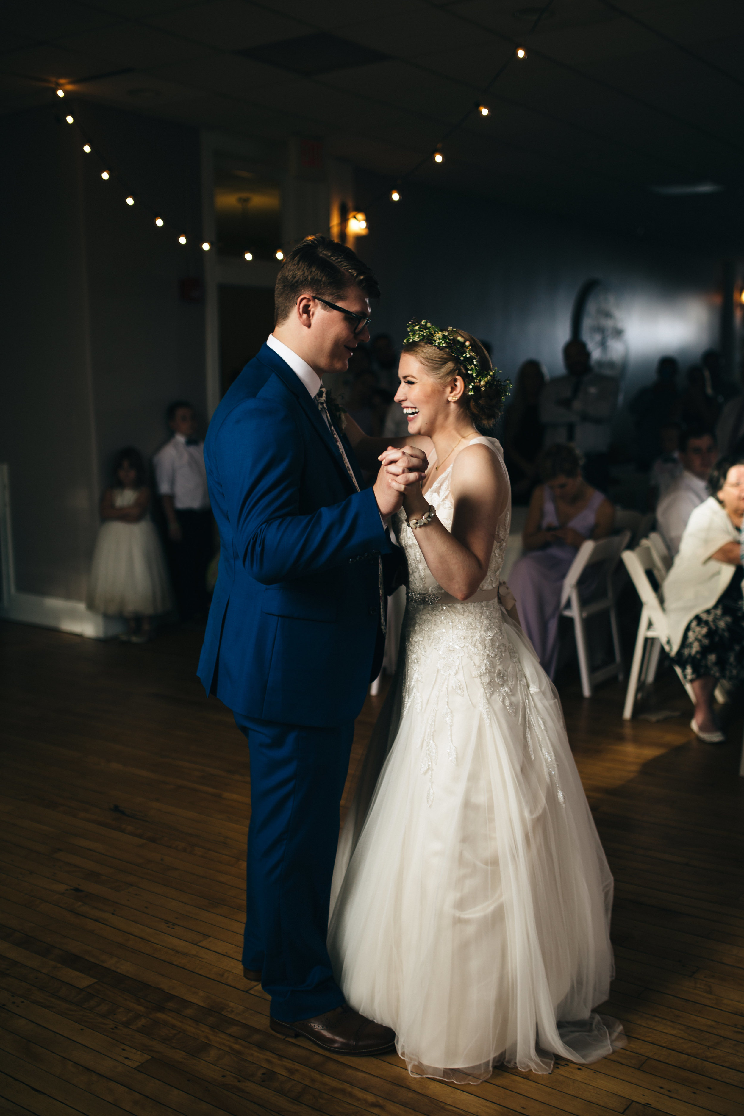 Beautiful first dance between bride and groom.