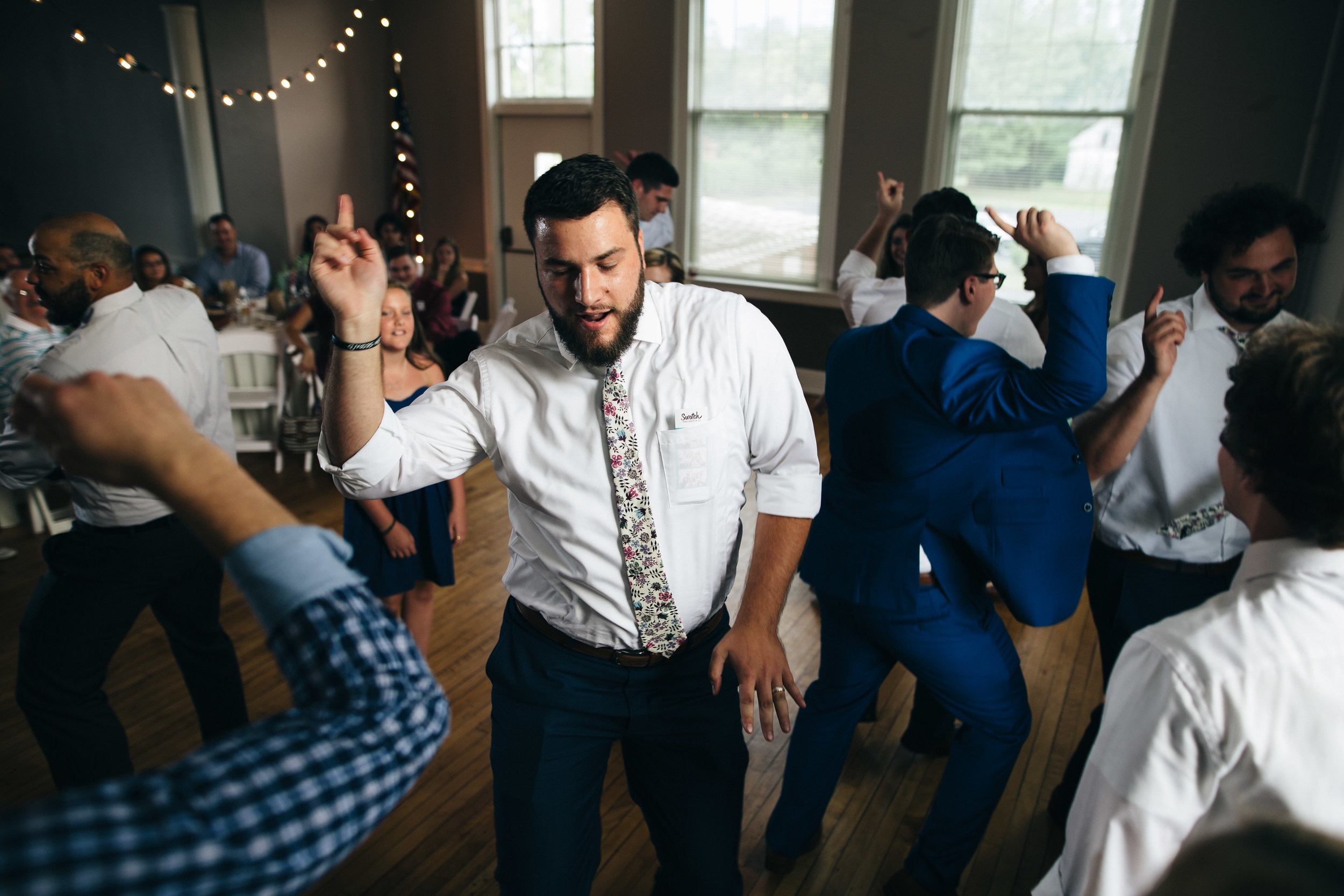 Dancing at Wedding reception to Sounds of Music DJ.
