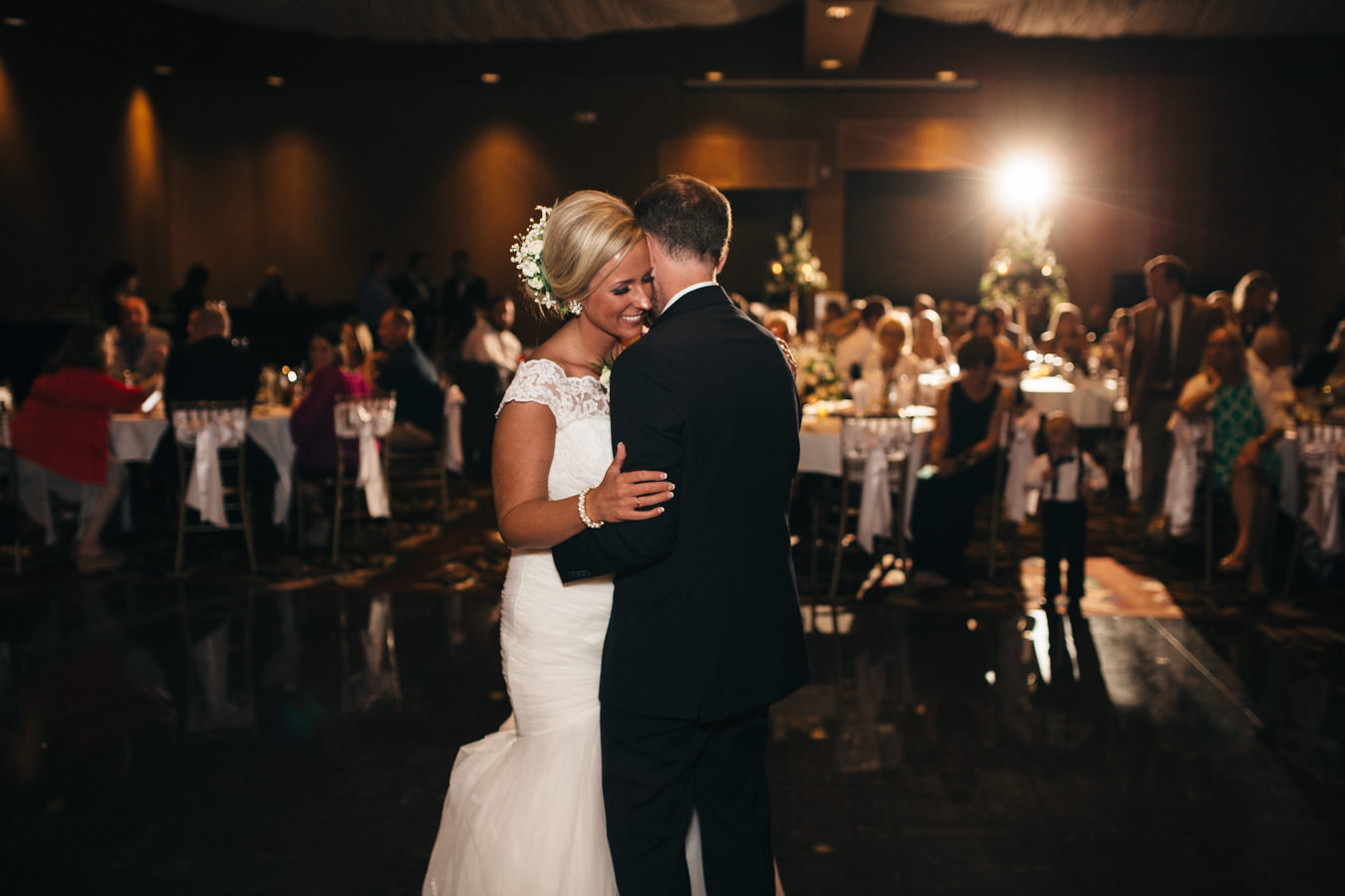 Bride and groom's first dance at The Pinnacle in Toledo