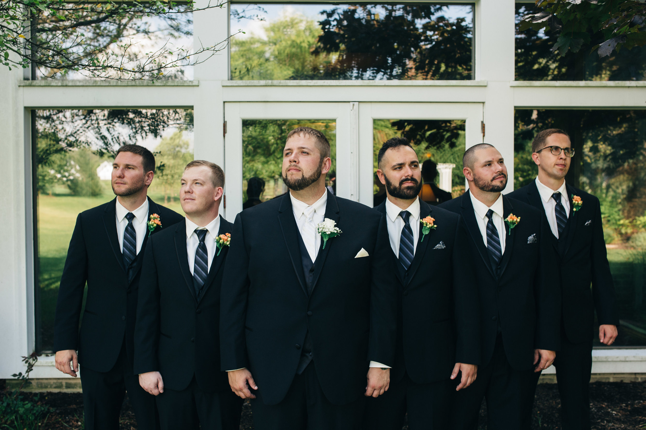 Groomsmen wedding photography at Walden Inn.
