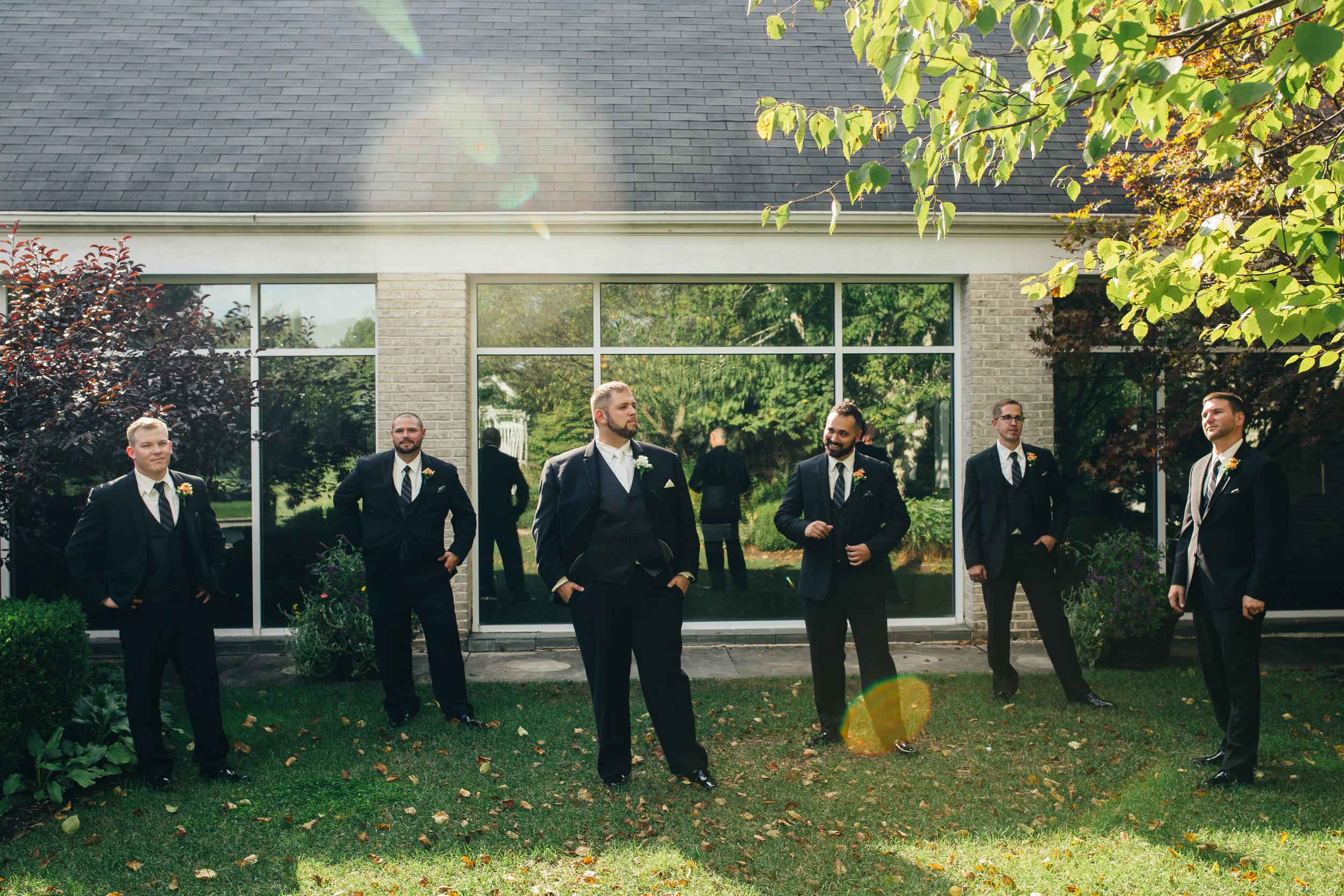 Groomsmen photography at Walden Inn & Spa.