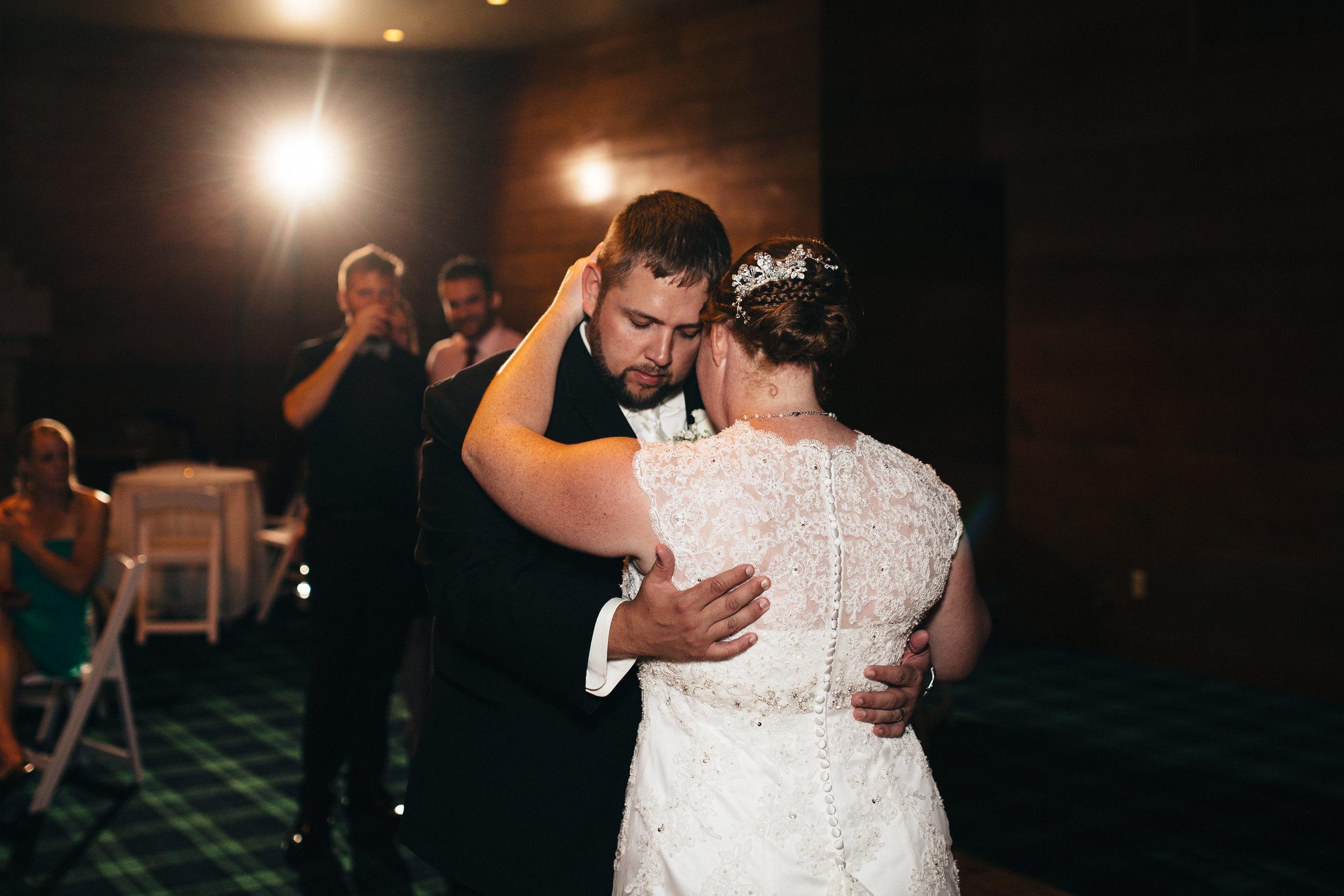 First dance at wedding reception at Walden Inn.