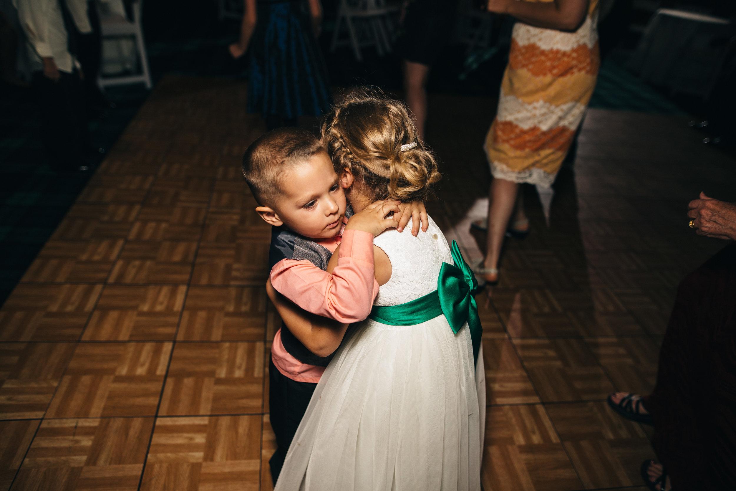 Kids dancing at Wedding reception at Walden Inn & Spa