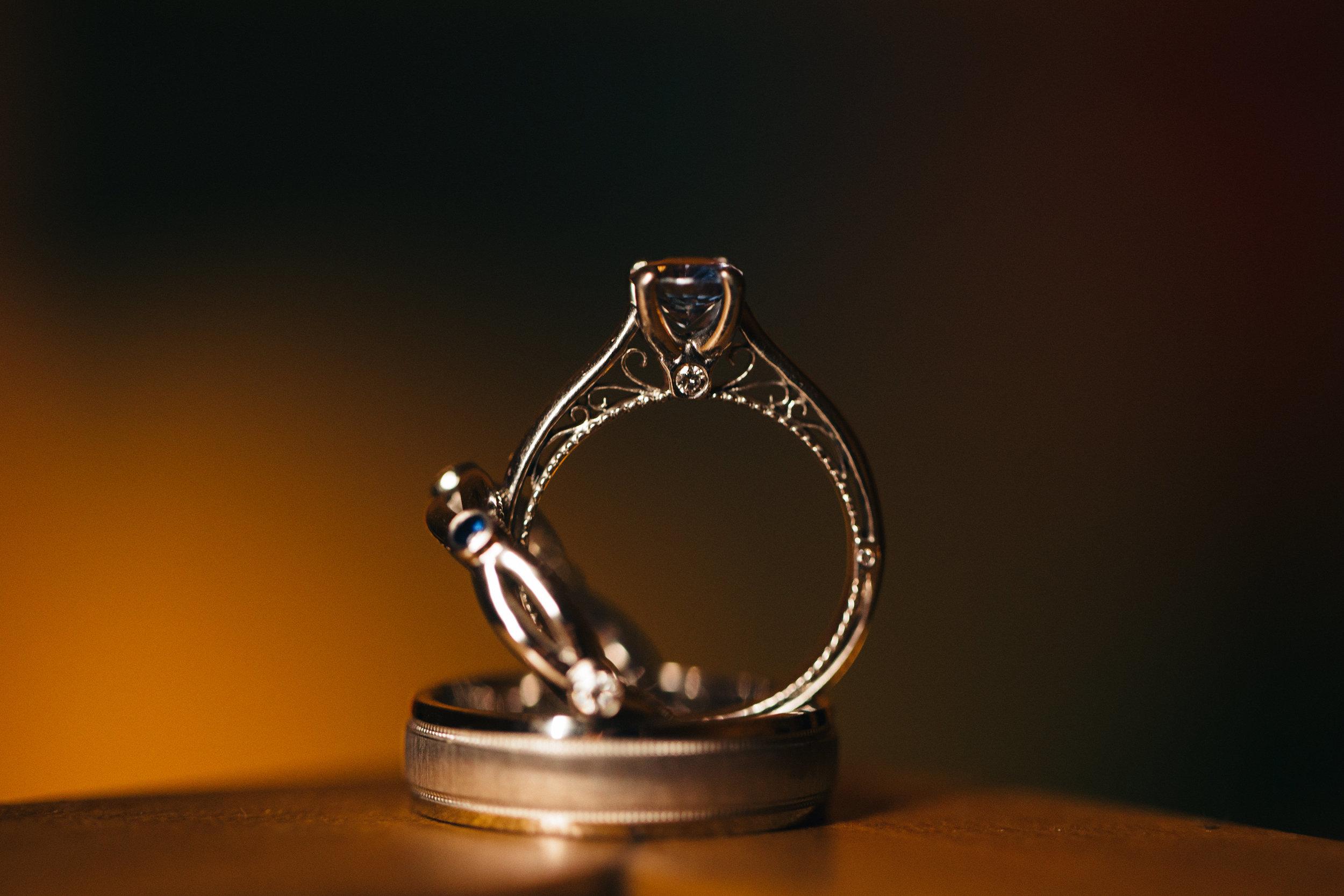 Wedding Ring and wedding band photography.