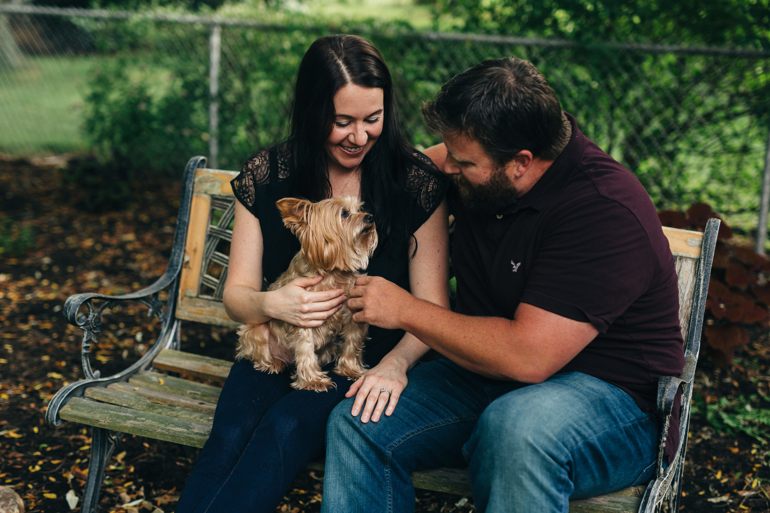Cute engagement session with dog