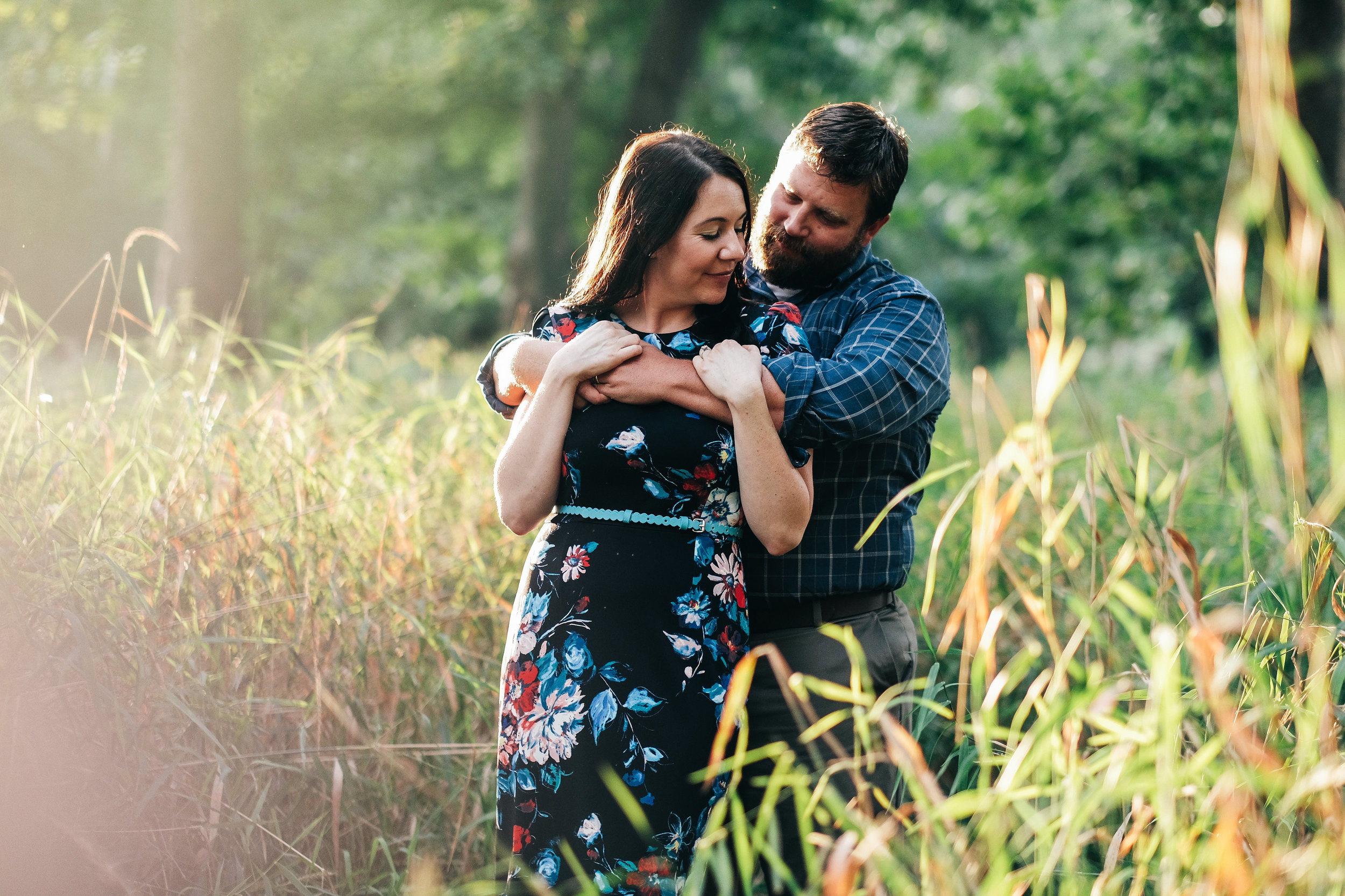 Fall engagement session at  Sidecut MetroPark.