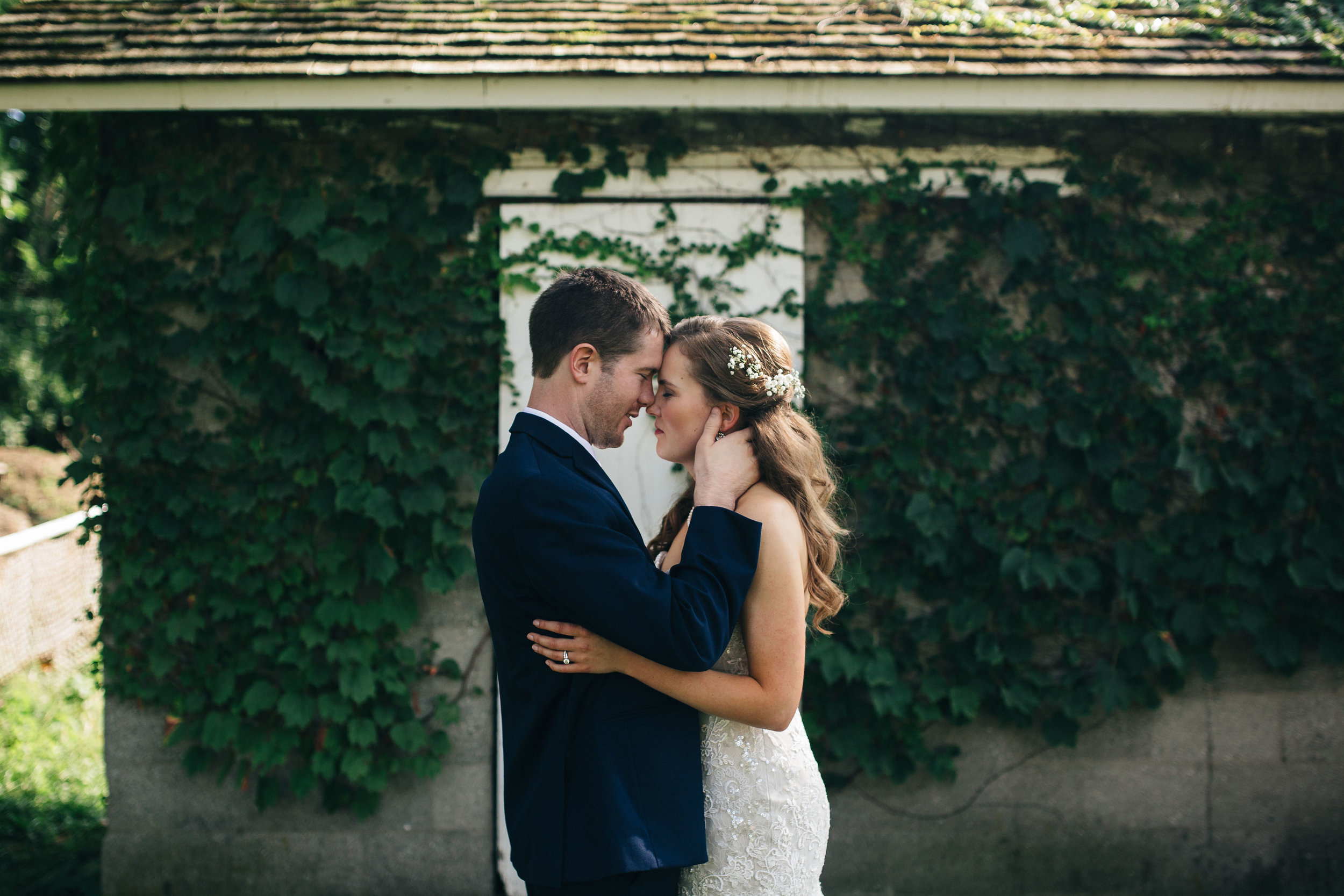 Bride and groom photography at the Wood County Historical Society.
