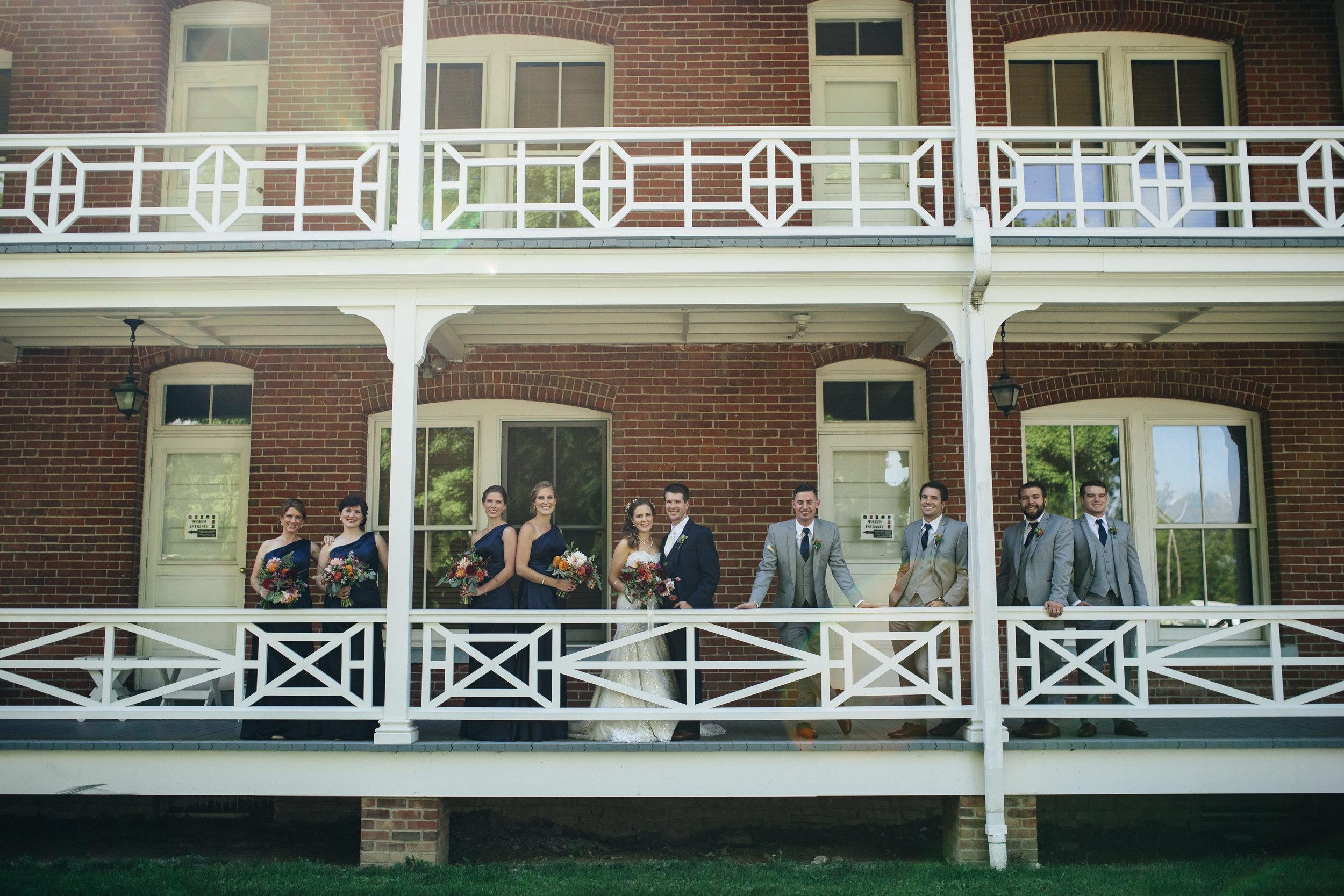 Wedding photography at Wood County Historical Society.