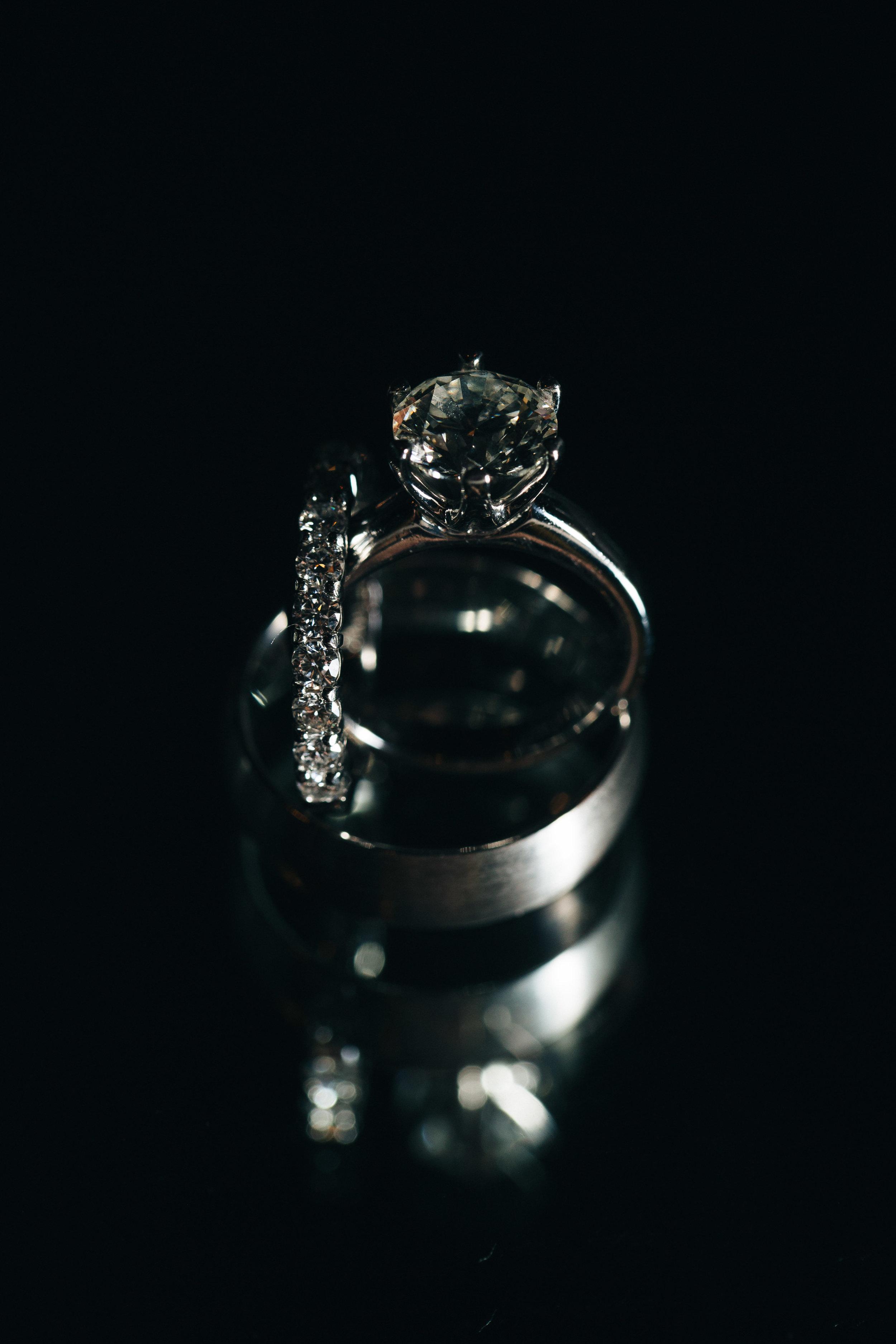 Wedding photography of diamond wedding ring.