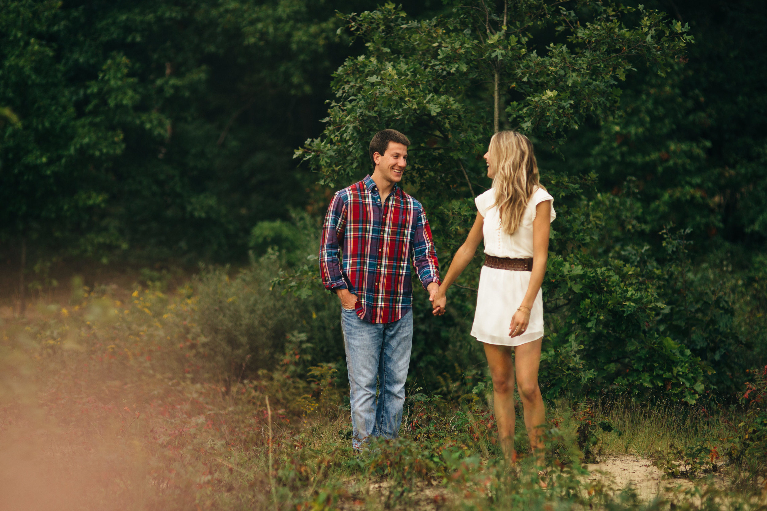 Engagement session at Oak Openings in Fall.