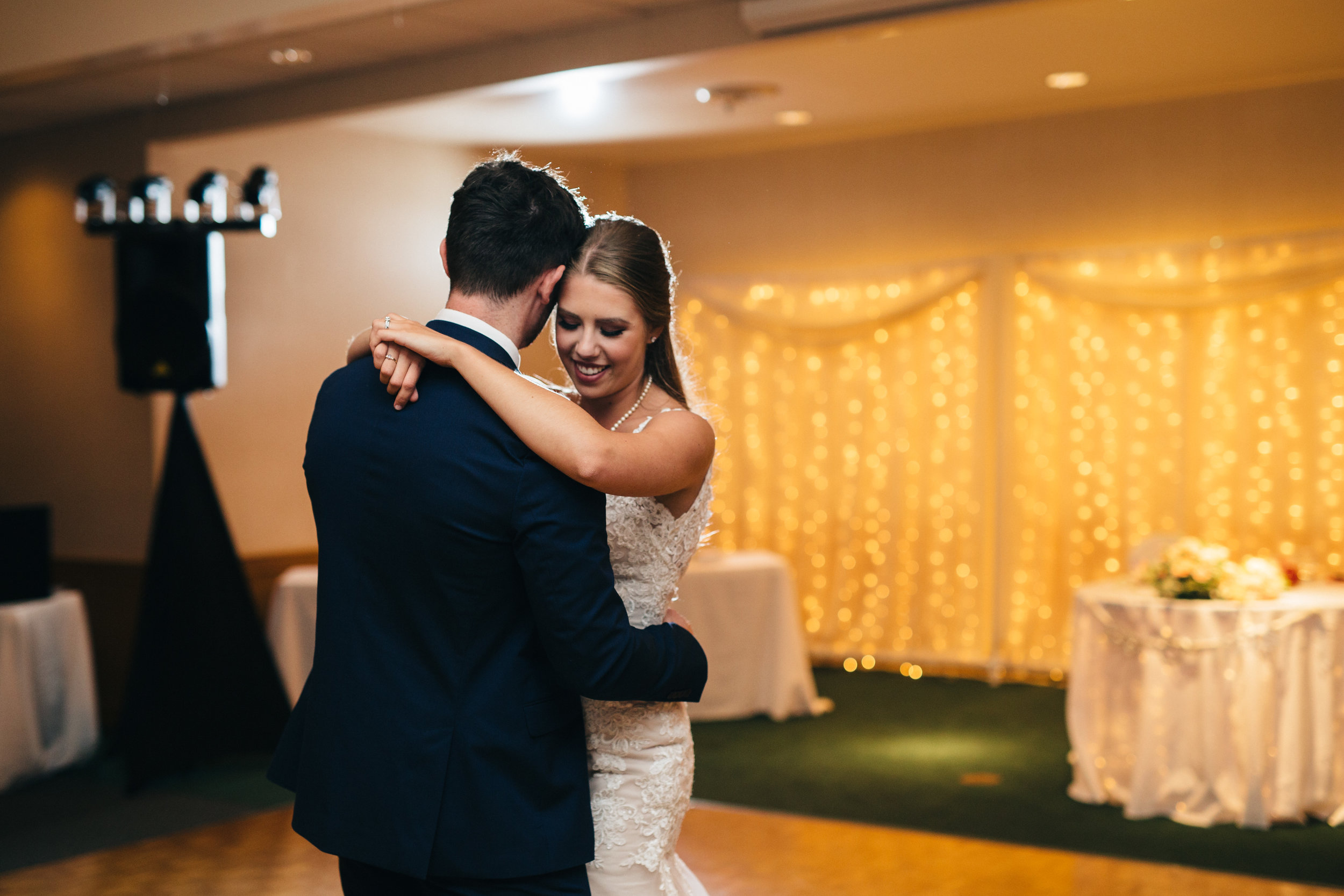 First dance at reception at Stone Ridge Golf Club