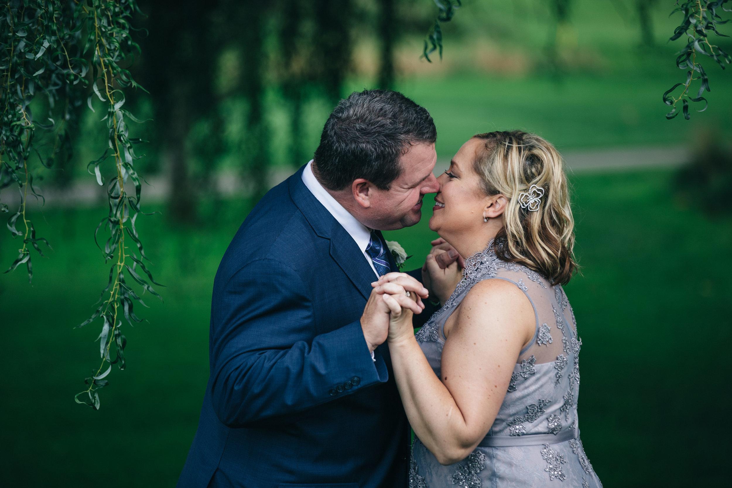 Bride and groom wedding at Highland Meadows.