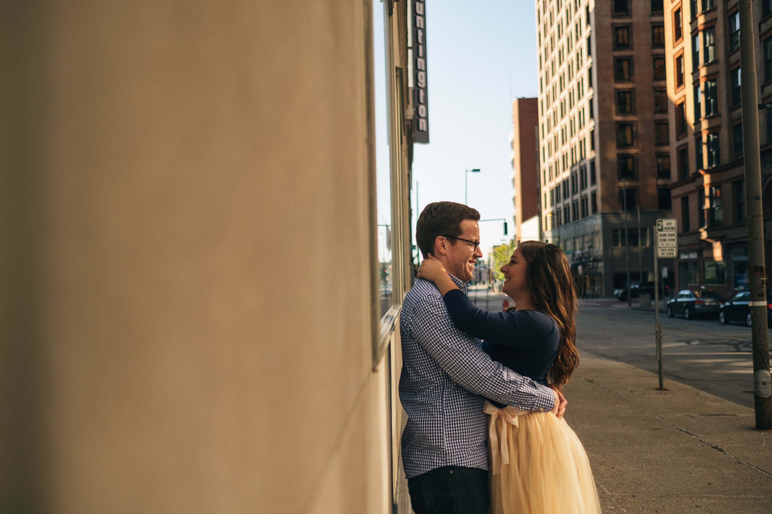 Downtown toledo, ballet-inspired engagement session