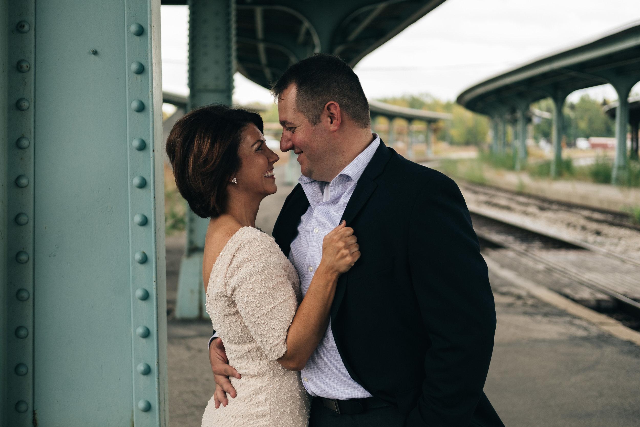 Engagement session at Toledo Amtrak Station.