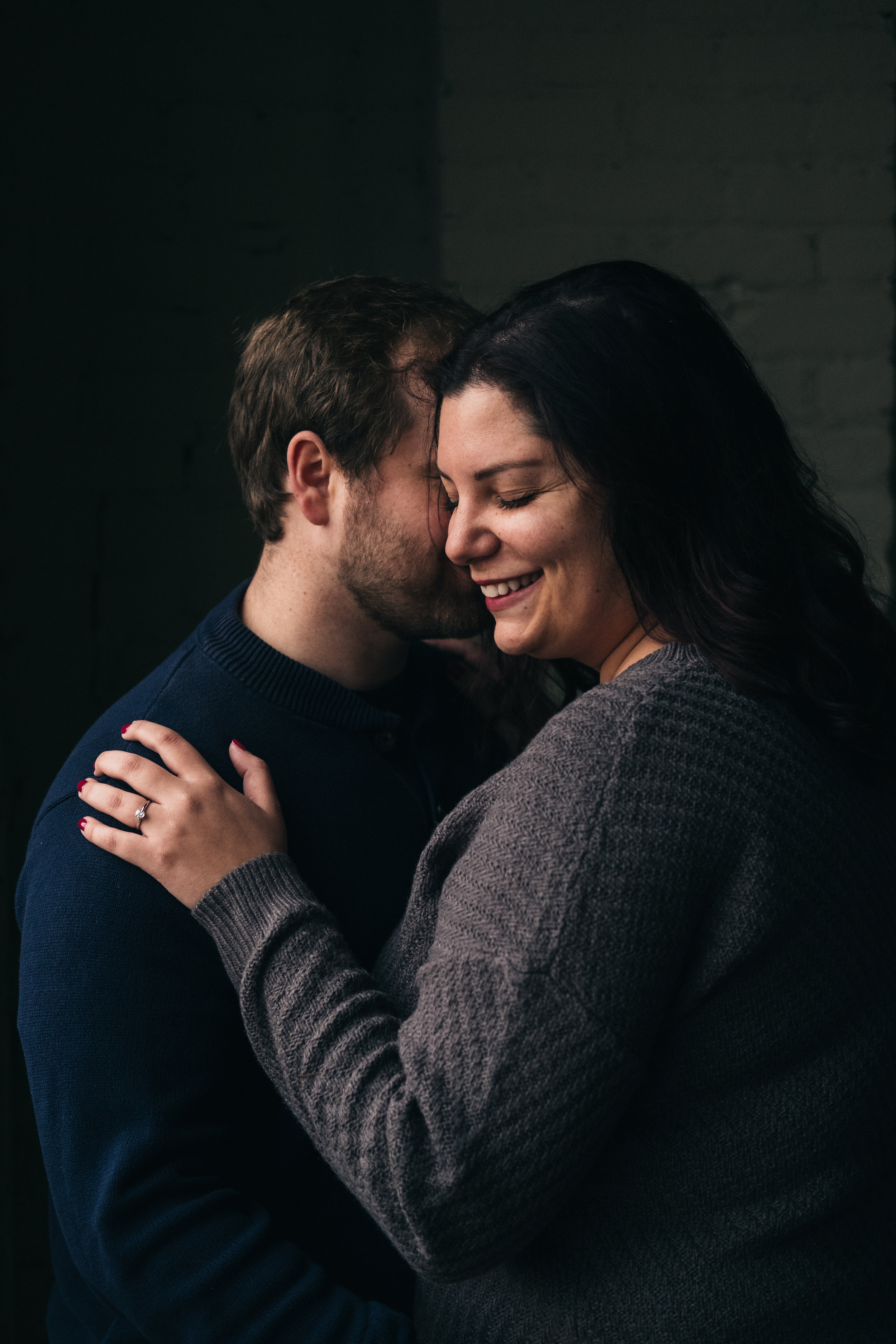Chilly fall engagement session in Toledo, Ohio.