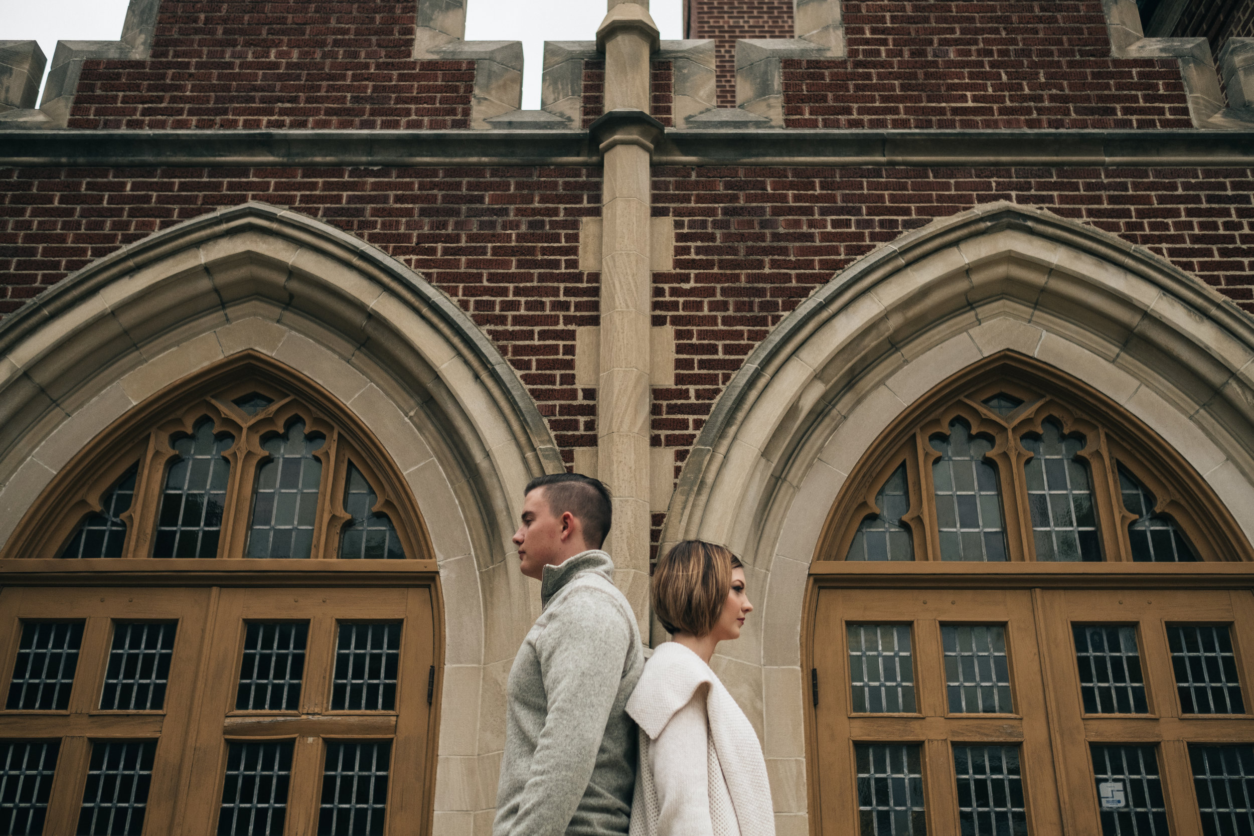 Royal Oak, Michigan engagement session in Downtown.