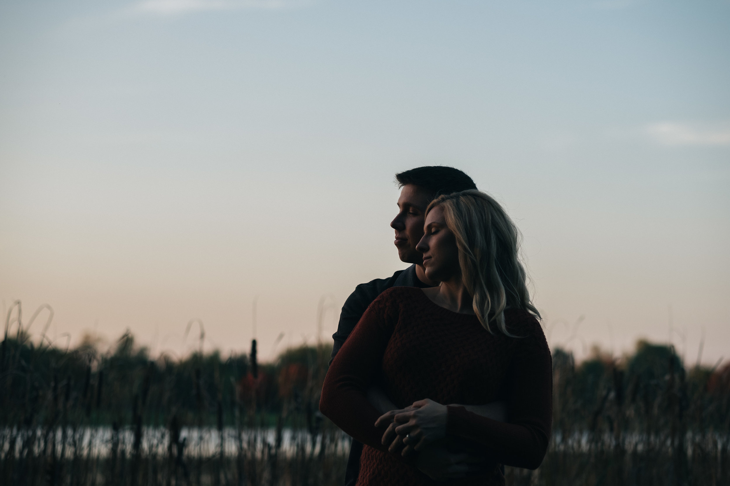Pure Michigan style engagement photography.