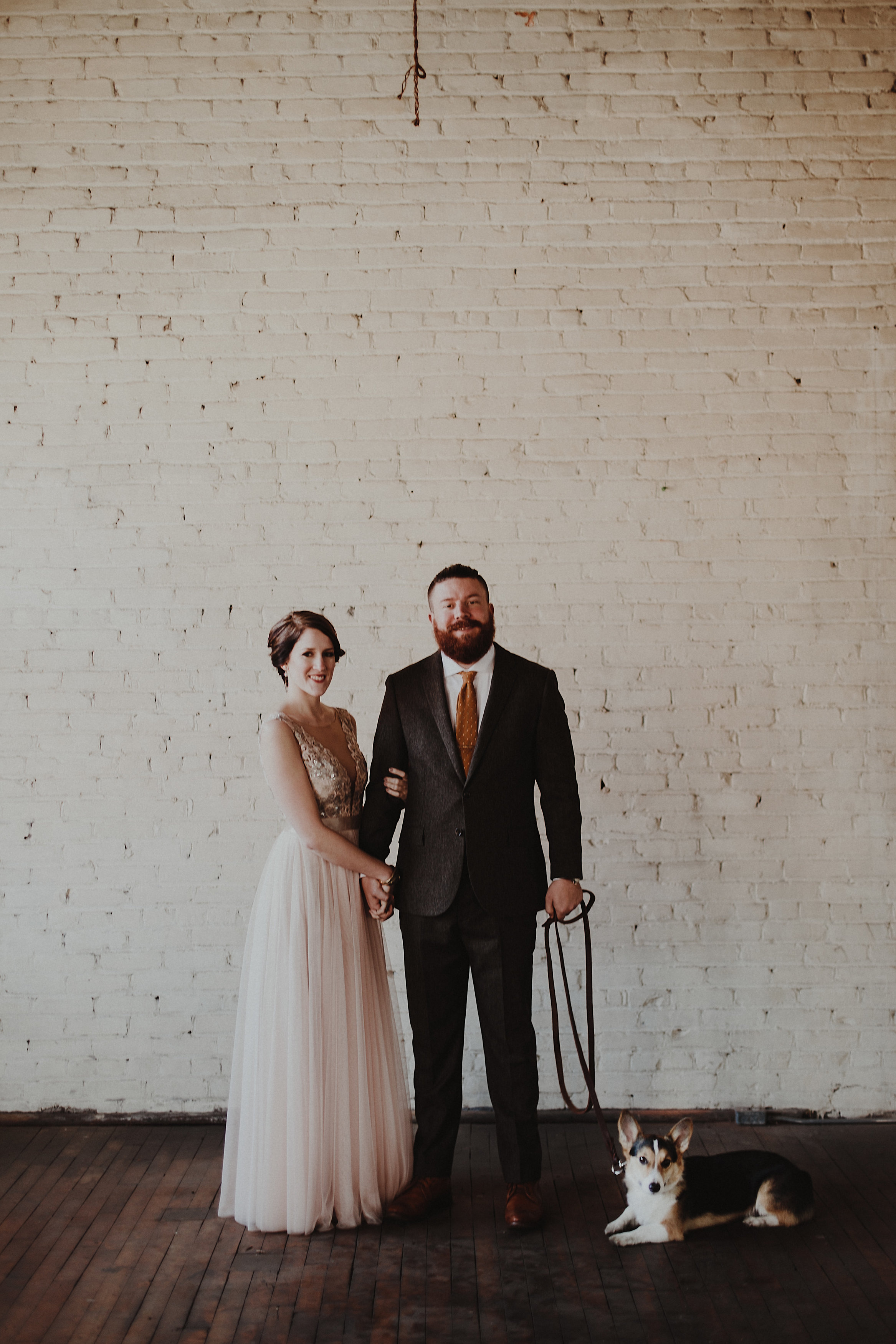 Unique warehouse wedding in downtown Toledo.