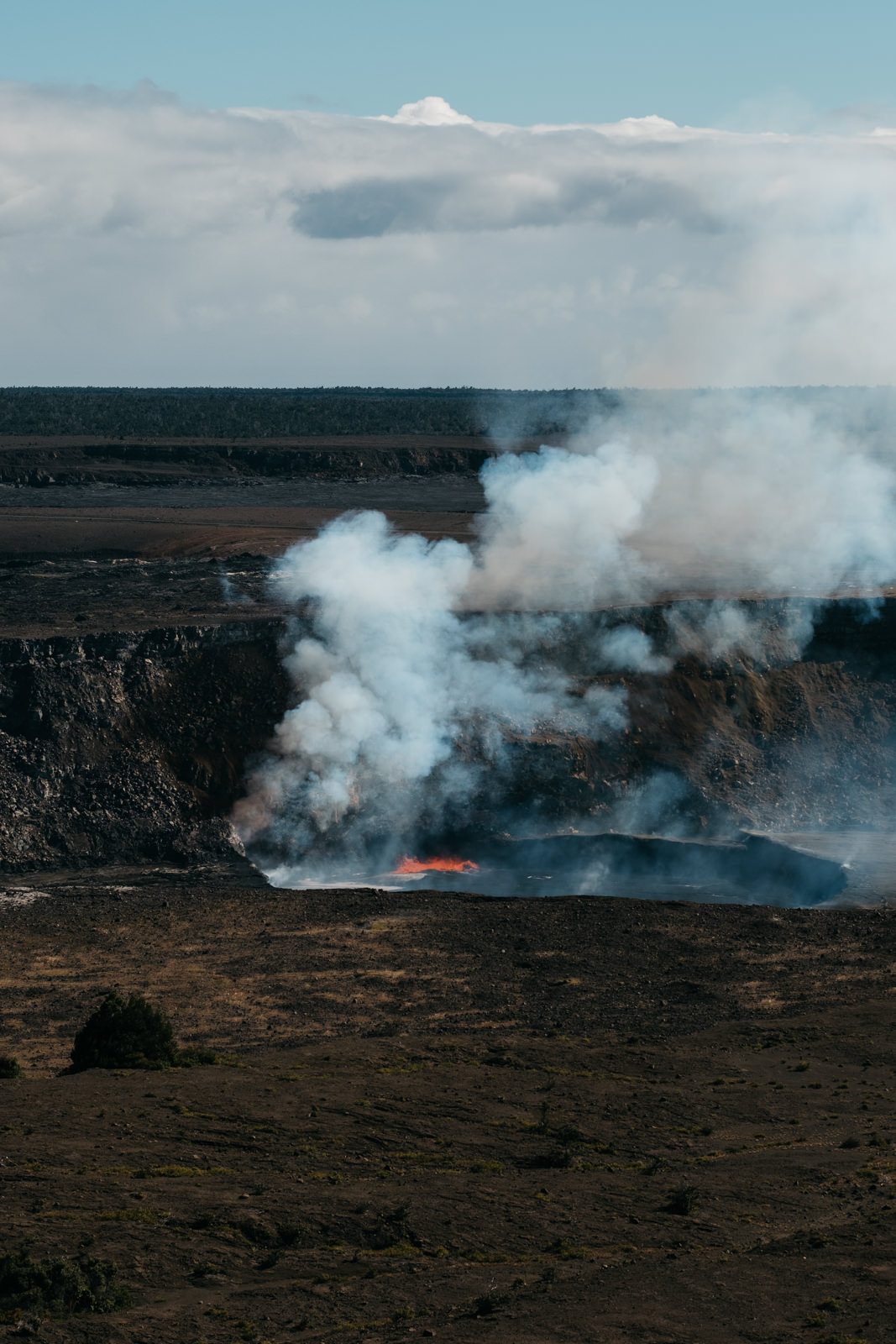 Volcanic magma in Hawaii during engagement session.