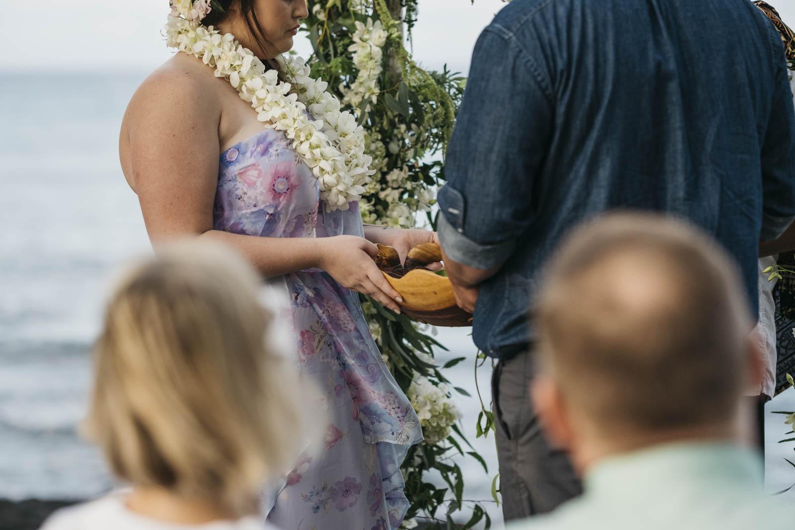 Beautiful Hawaii wedding ceremony on The Big Island.