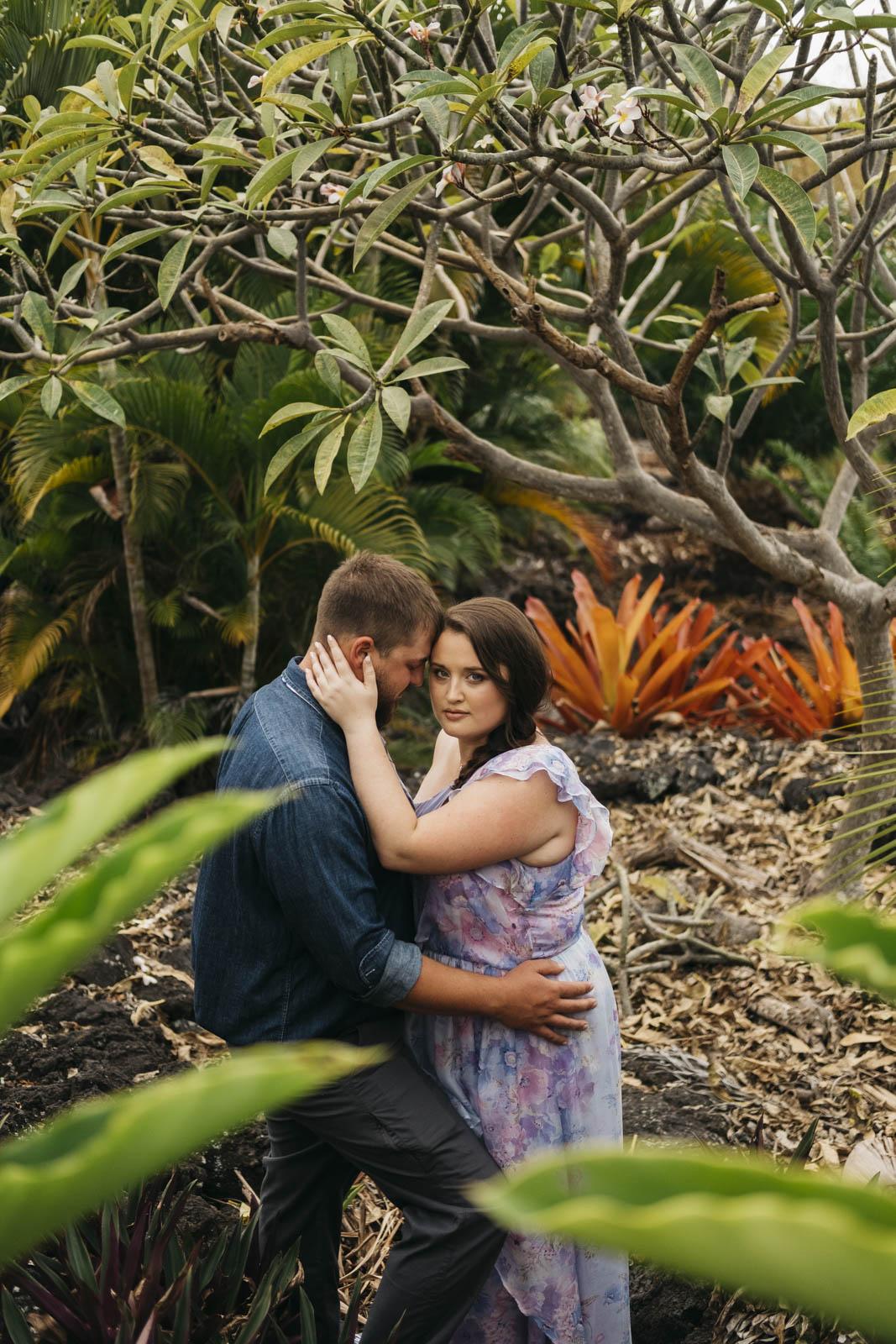 Bride and groom at destination wedding in Hawaii.