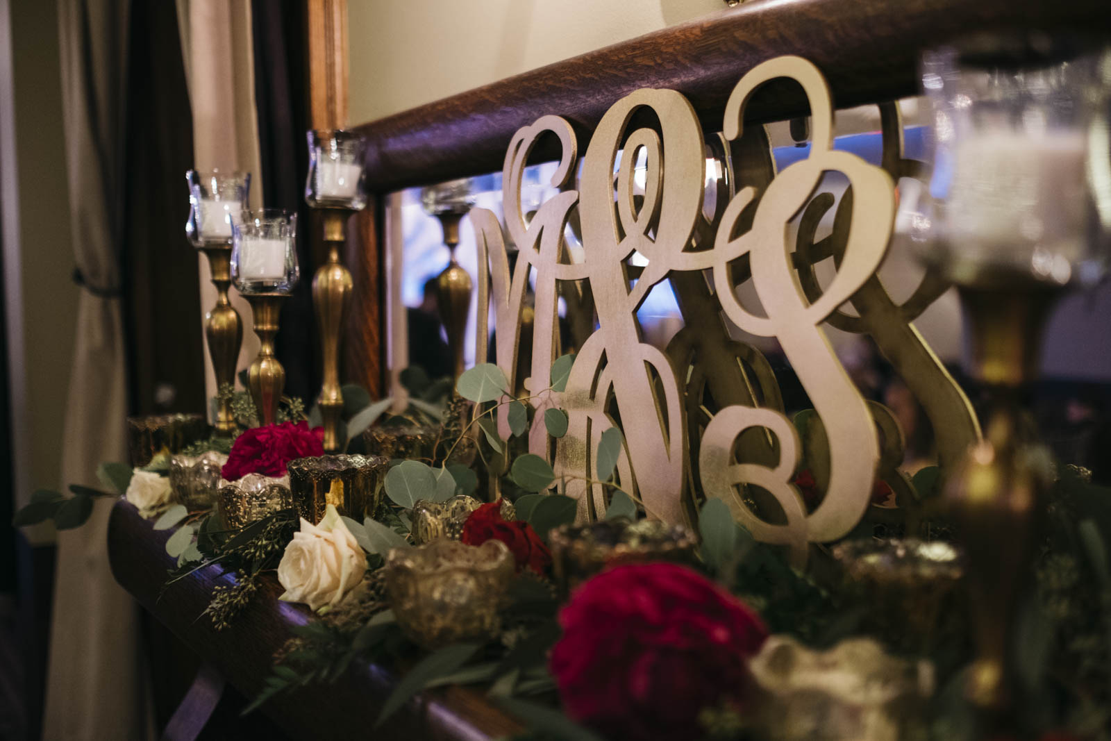 Wedding monogram and floral inspiration from Bartz Viviano in Toledo, Ohio.