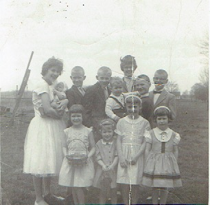 Old family portraits from over 50 years ago.