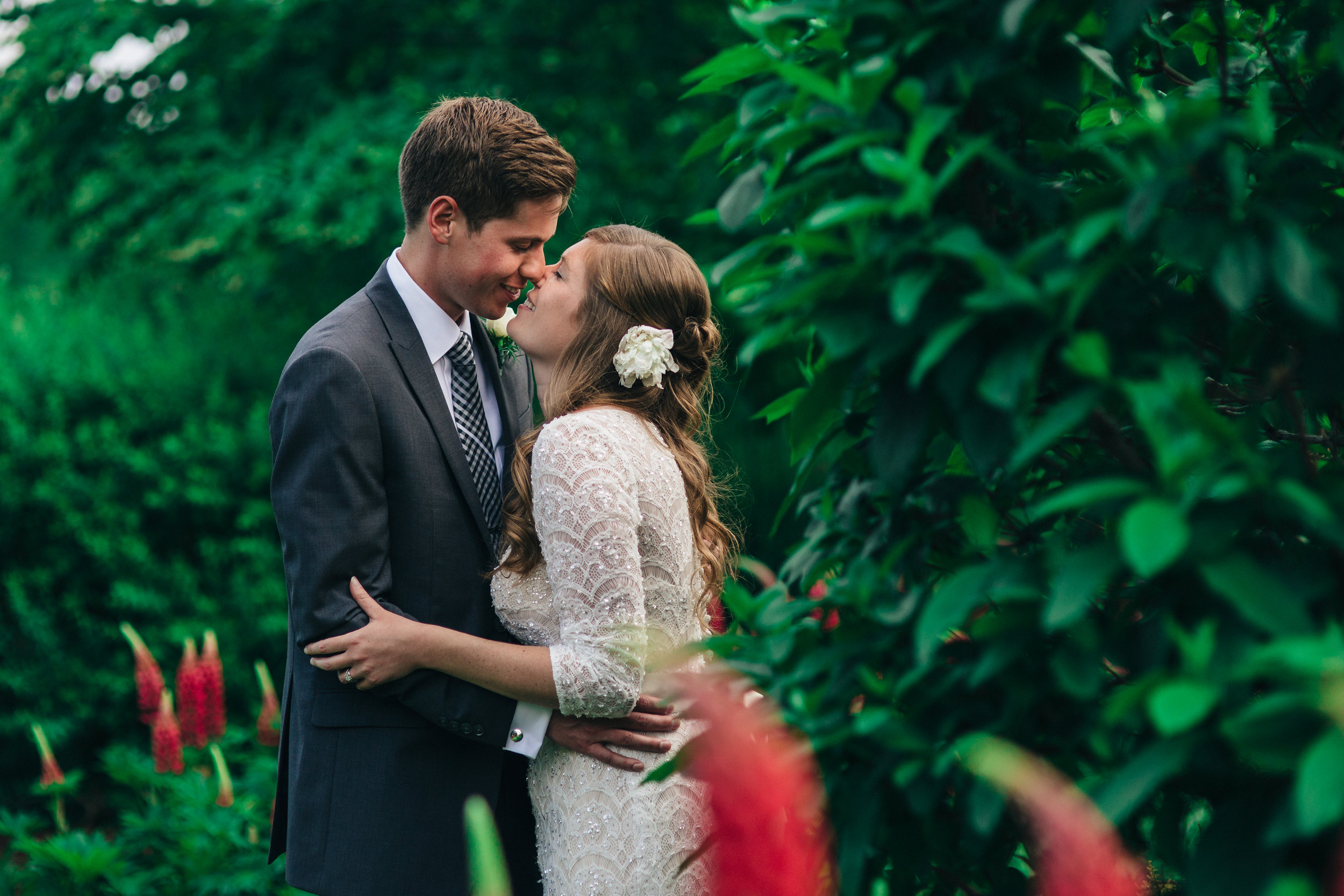 Wedding photography of bride and groom in Cleveland, Ohio.