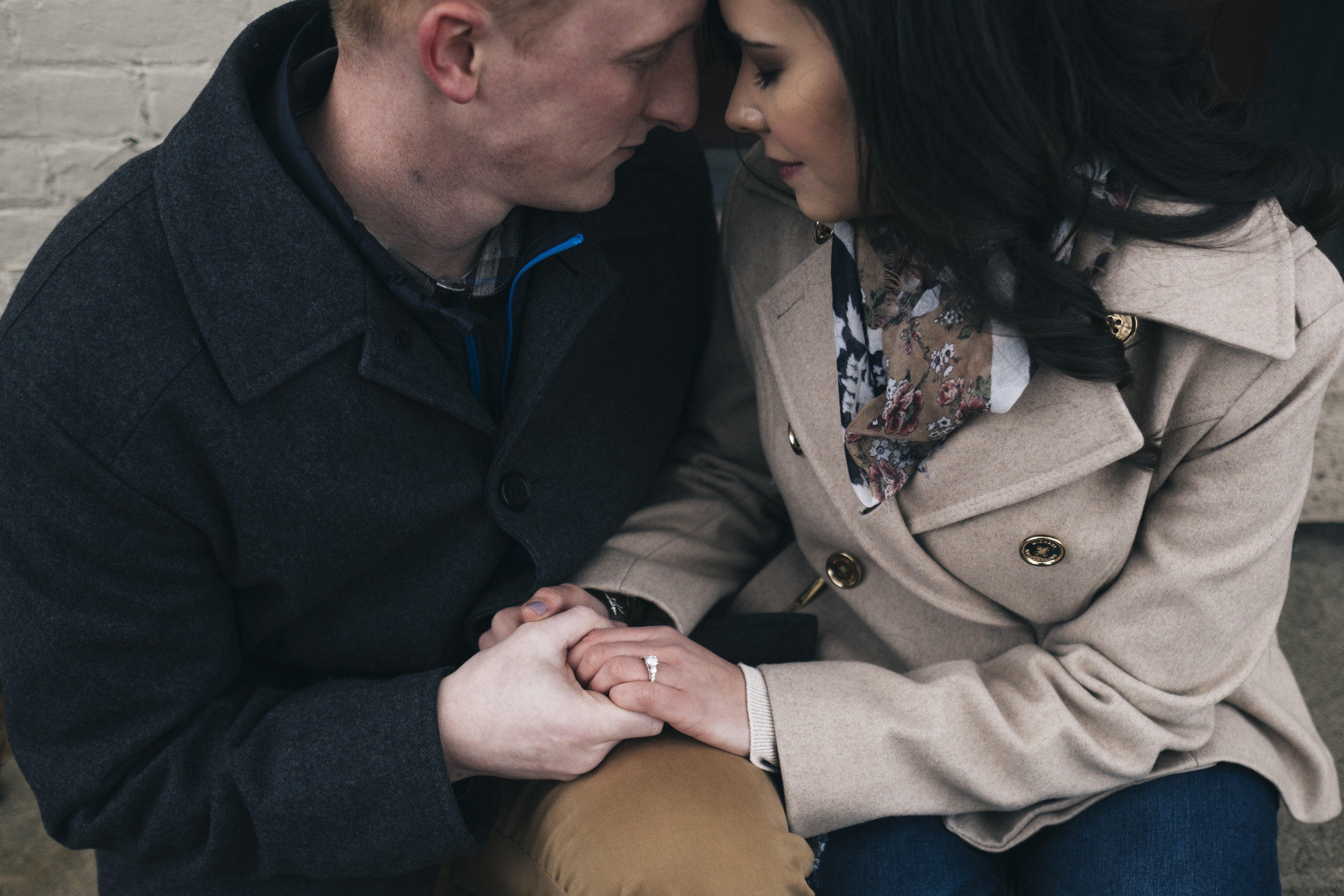 Intimate engagement session in Columbus, Ohio.