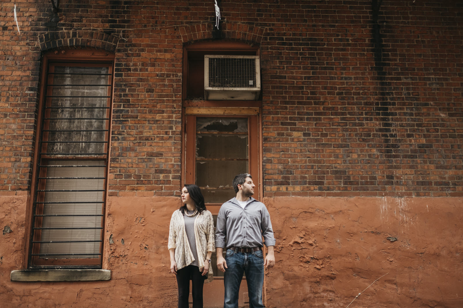 Engagement session in downtown Grand Rapids, Ohio.