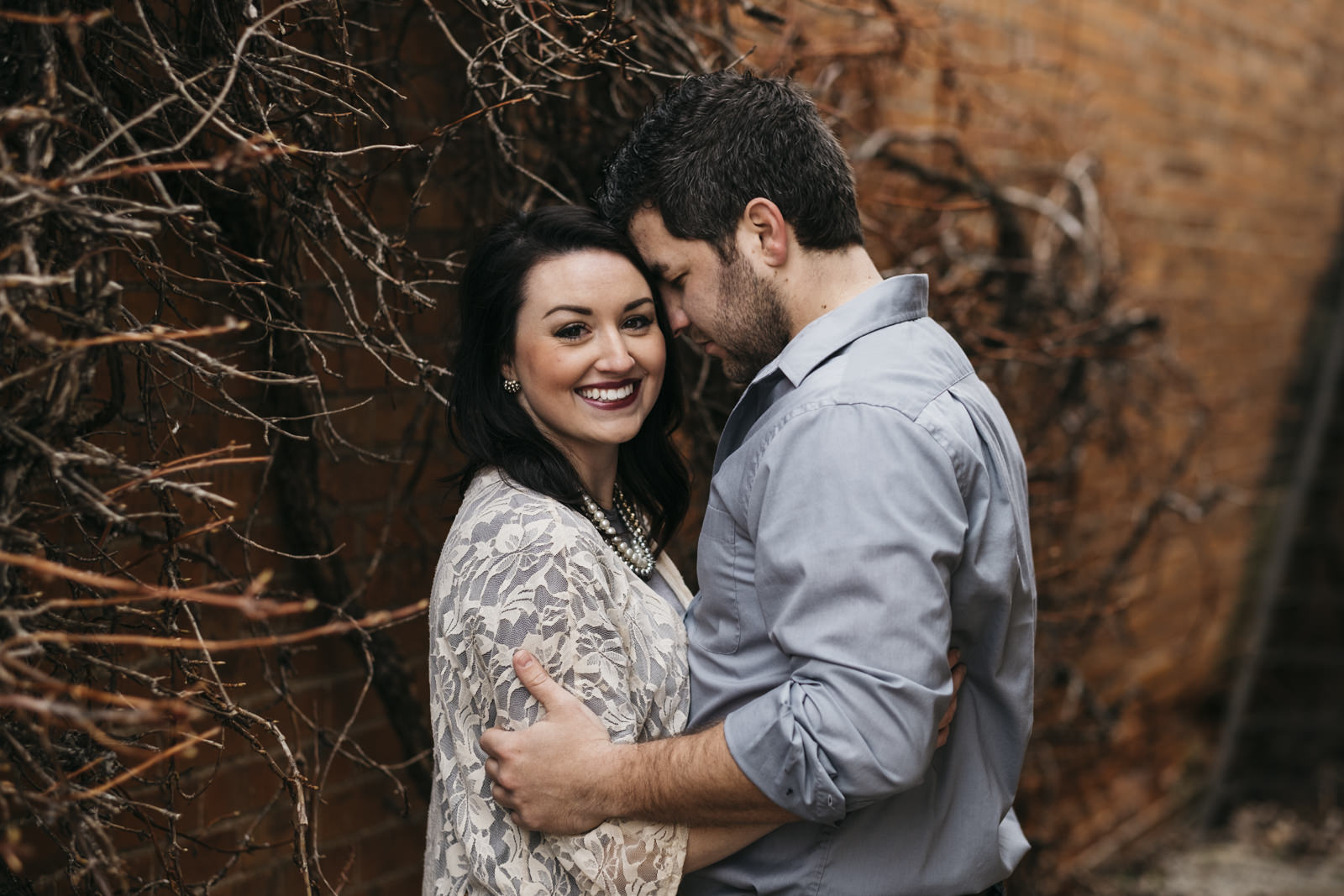 Downtown Grand Rapids engagement session.