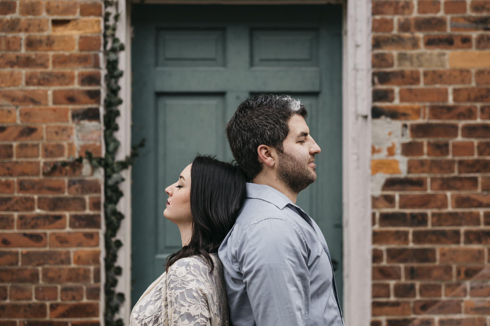 Urban style engagement session in Grand Rapids, Ohio.