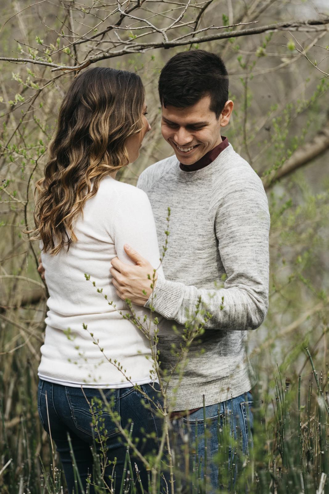 Engagement session photography at Nichols Arboretum.