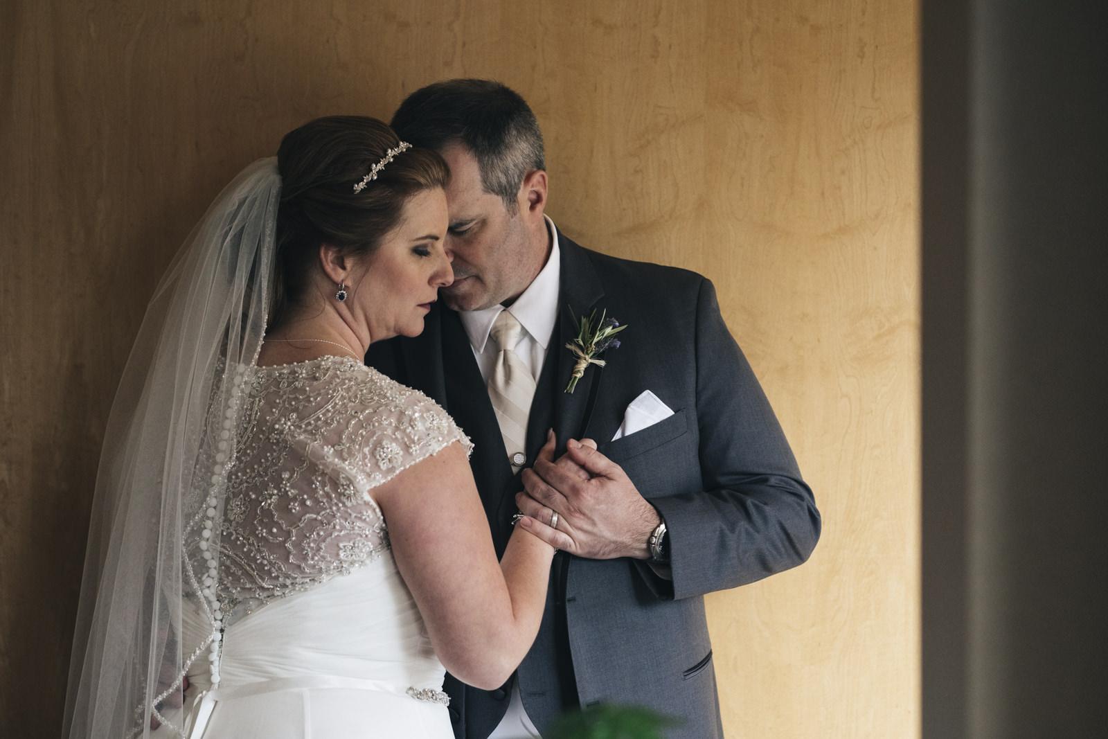 Bride and groom portrait at Hilton Garden Inn Toledo/Perrysburg.