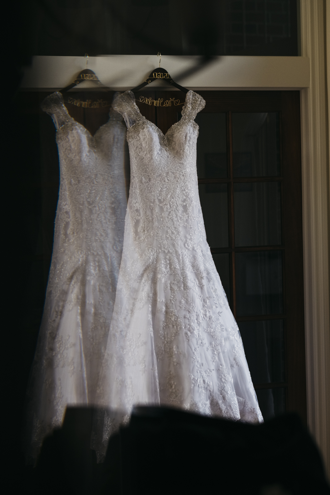 Wedding gown from Becker's Bridal in Plymouth, Michigan.