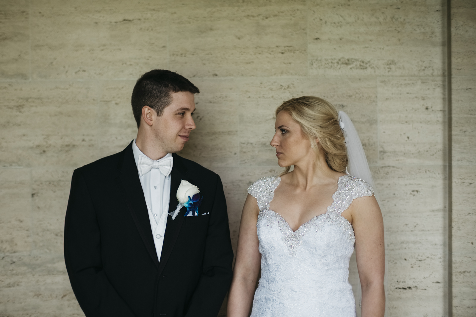 Bride and groom portraits at The Inn at St. John's.
