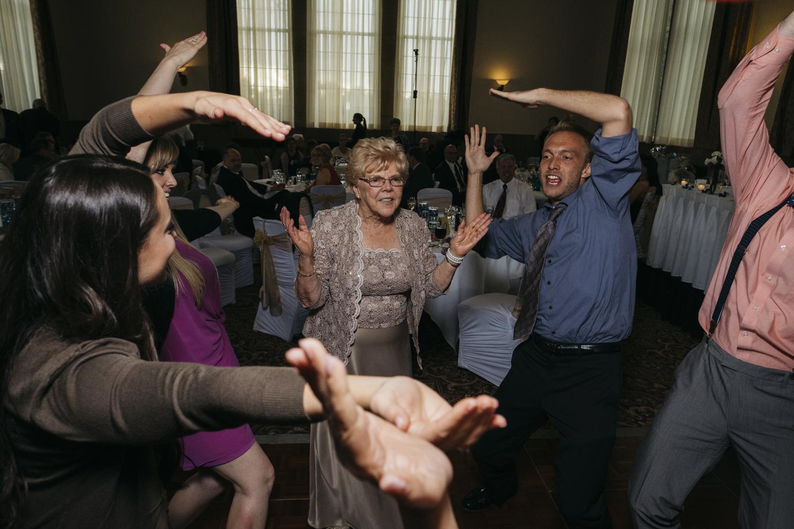Dancing at wedding reception at The Inn at St. John's.