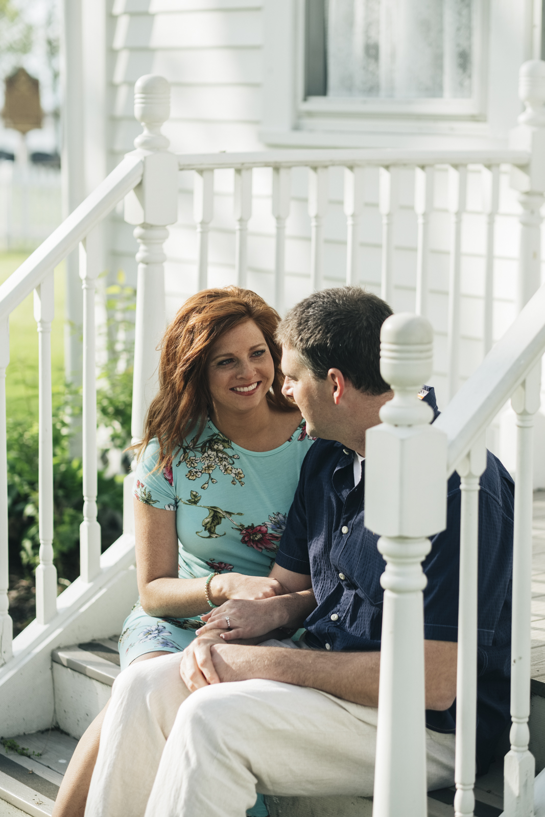 Spring engagement session at Marblehead Lighthouse State Park.