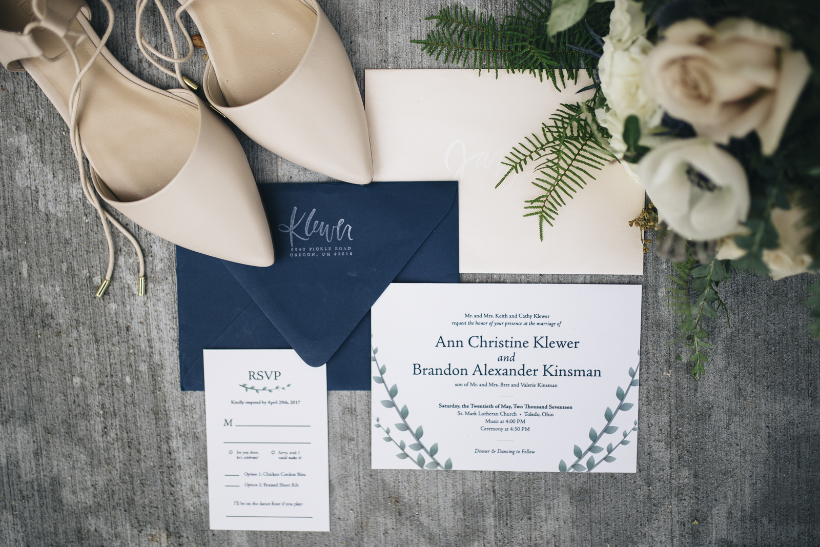 Wedding Invitation Suite details photography.