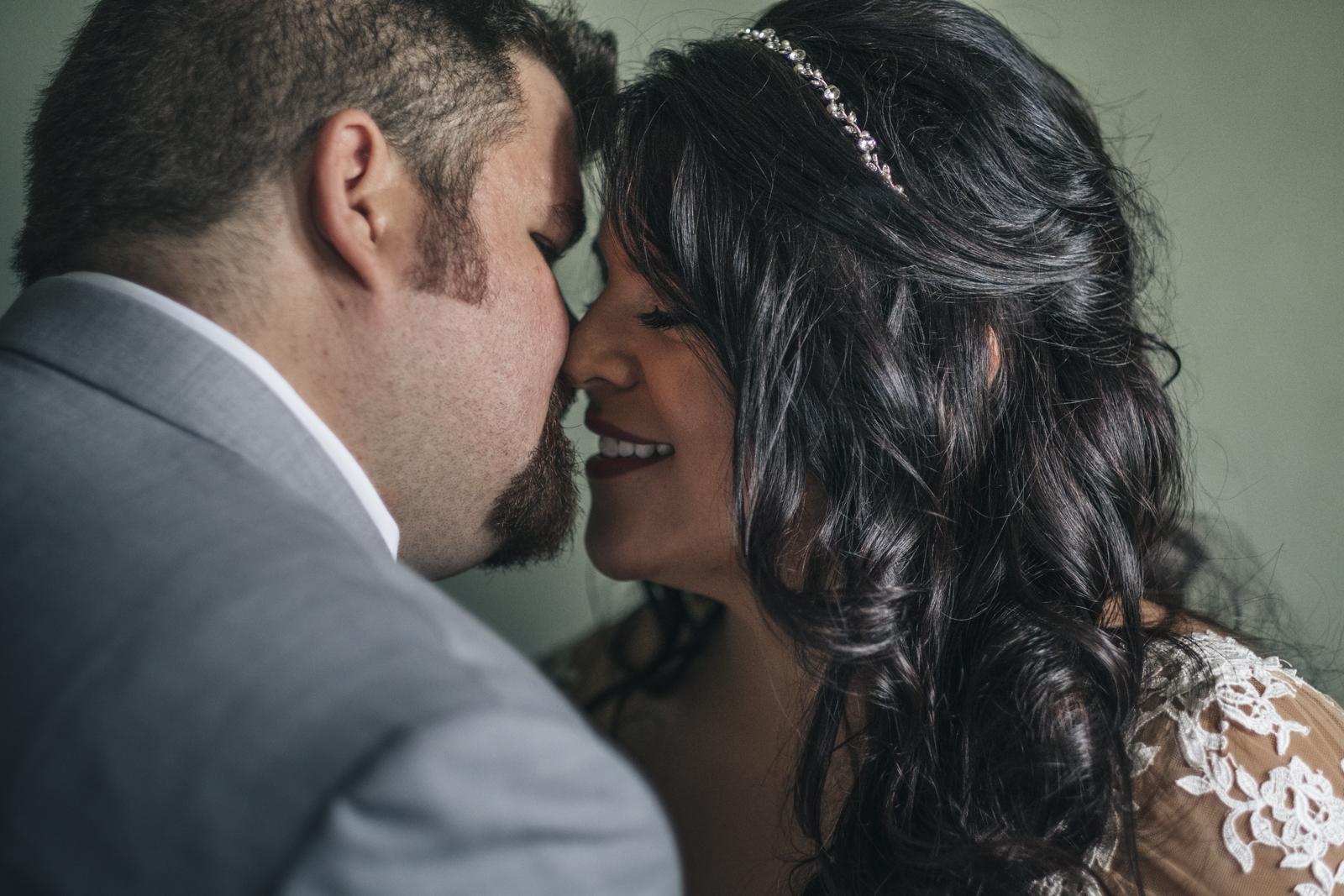 Beautiful bride and groom portrait.