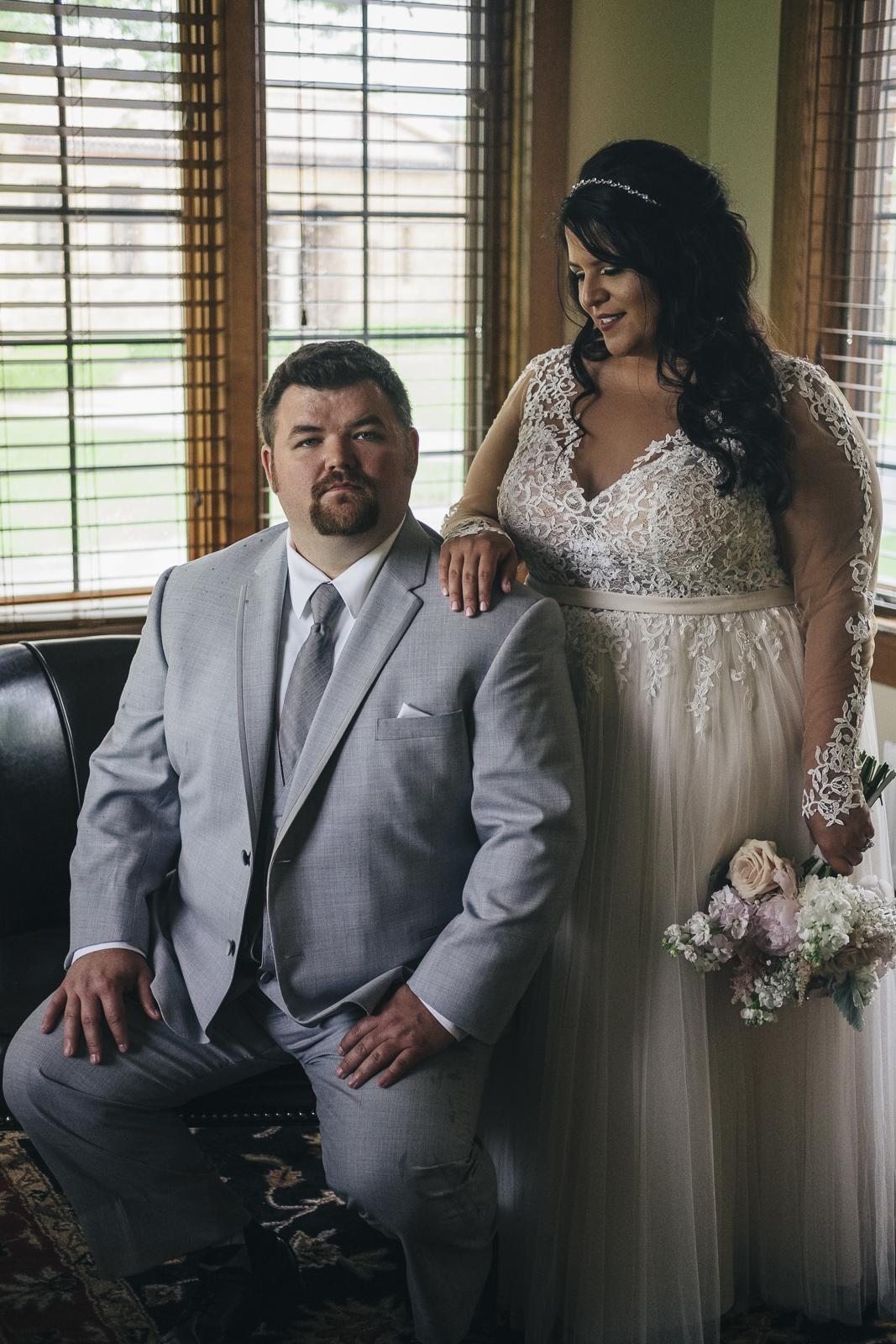 Blush and grey wedding at Nazareth Hall.