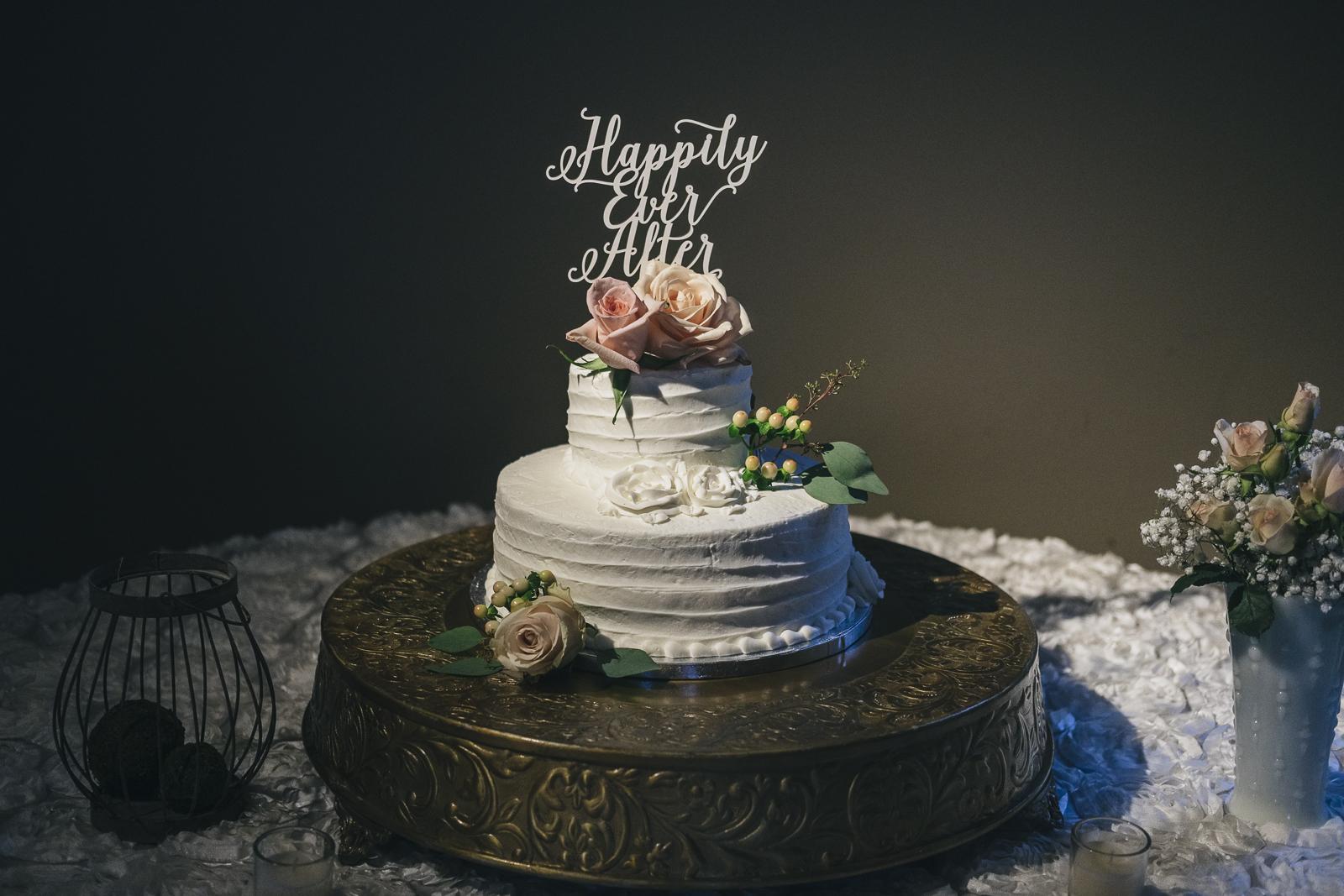 Wedding cake from Costco at Nazareth Hall wedding.