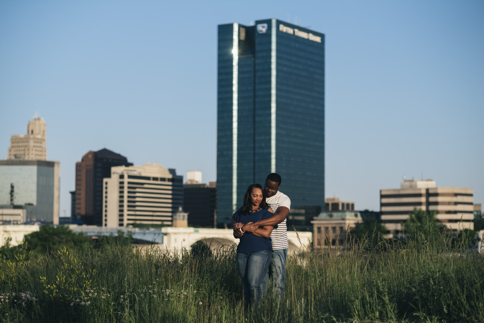 Engagement Session photography in downtown Toledo.